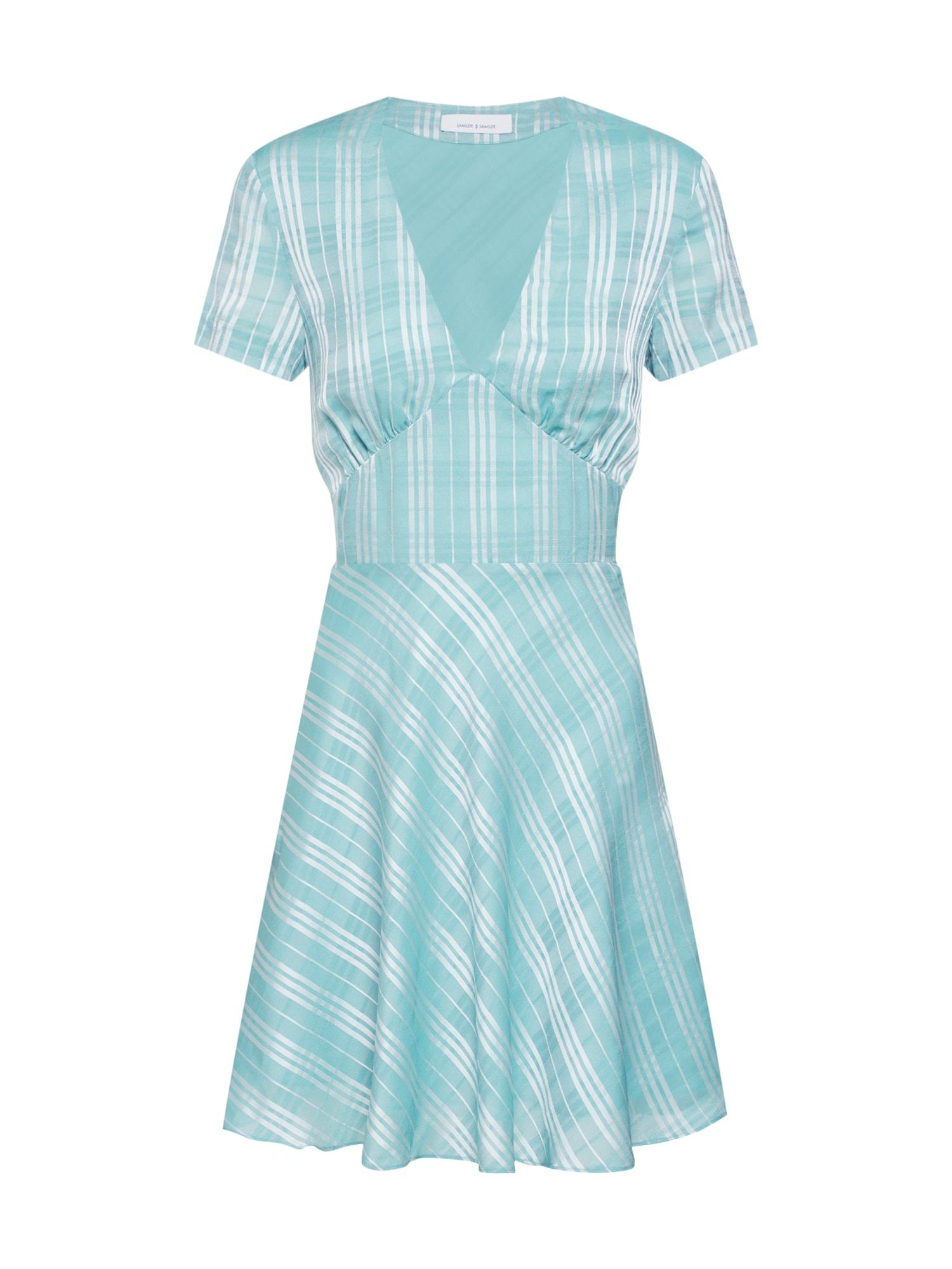 Samsoe Samsoe Vasarinė suknelė 'CINDY' nefrito spalva / sidabras