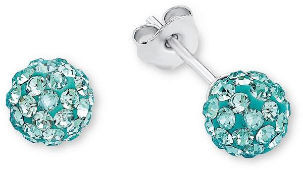Ohrringe für Frauen - AMOR Paar Ohrstecker, 'E71 6' türkis silber  - Onlineshop ABOUT YOU