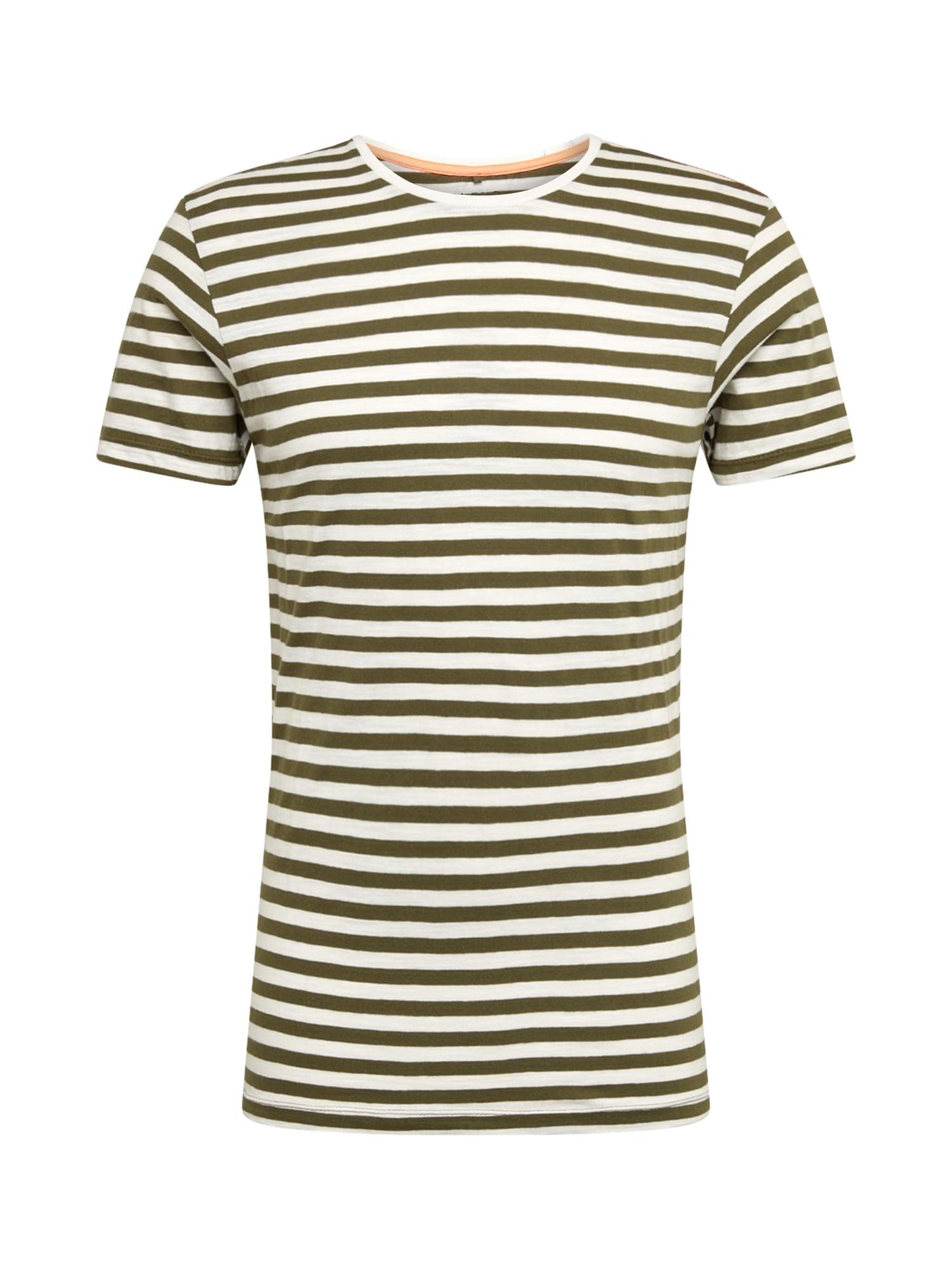 BLEND Marškinėliai alyvuogių spalva