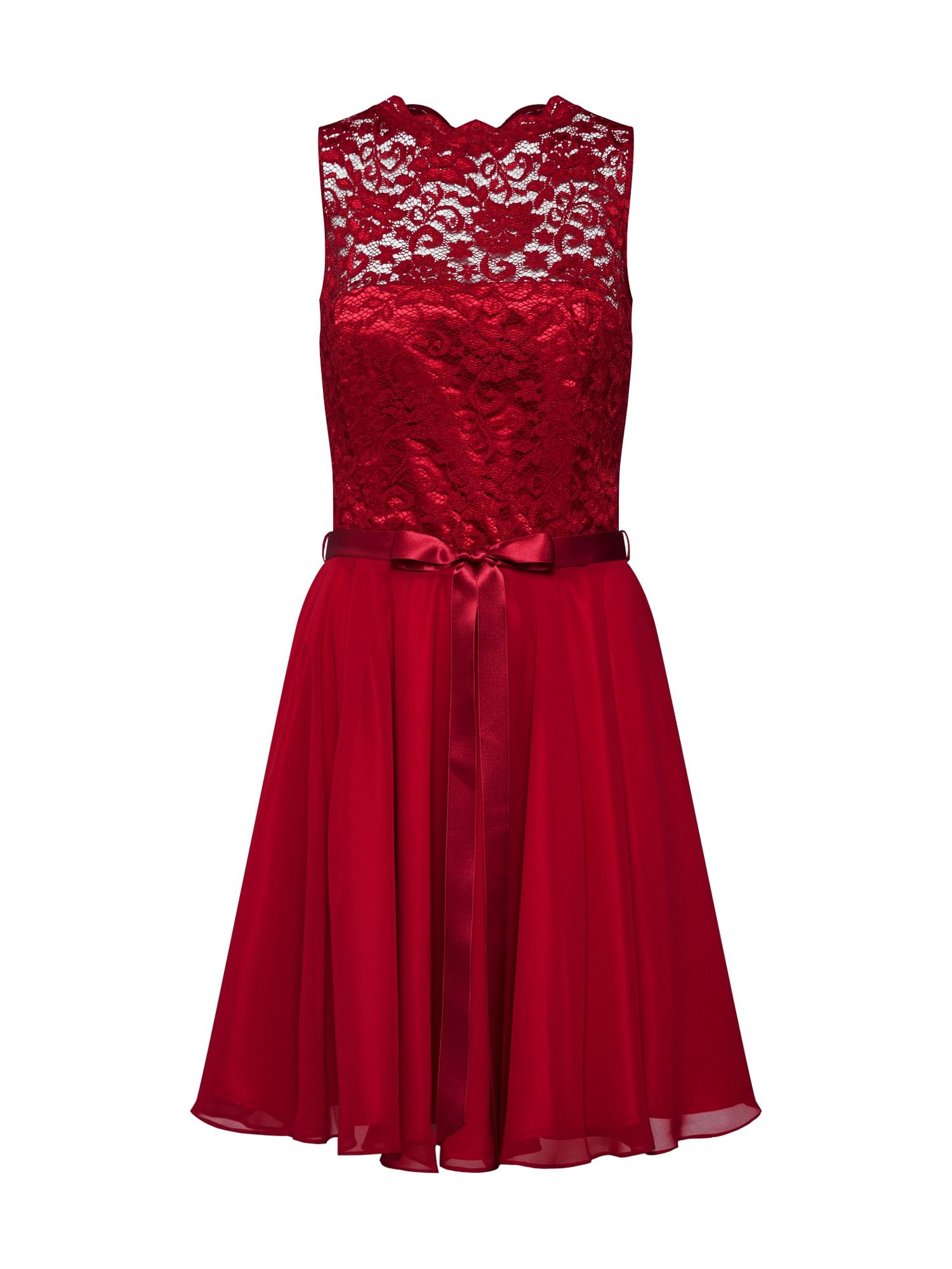 SWING Kokteilinė suknelė vyno raudona spalva