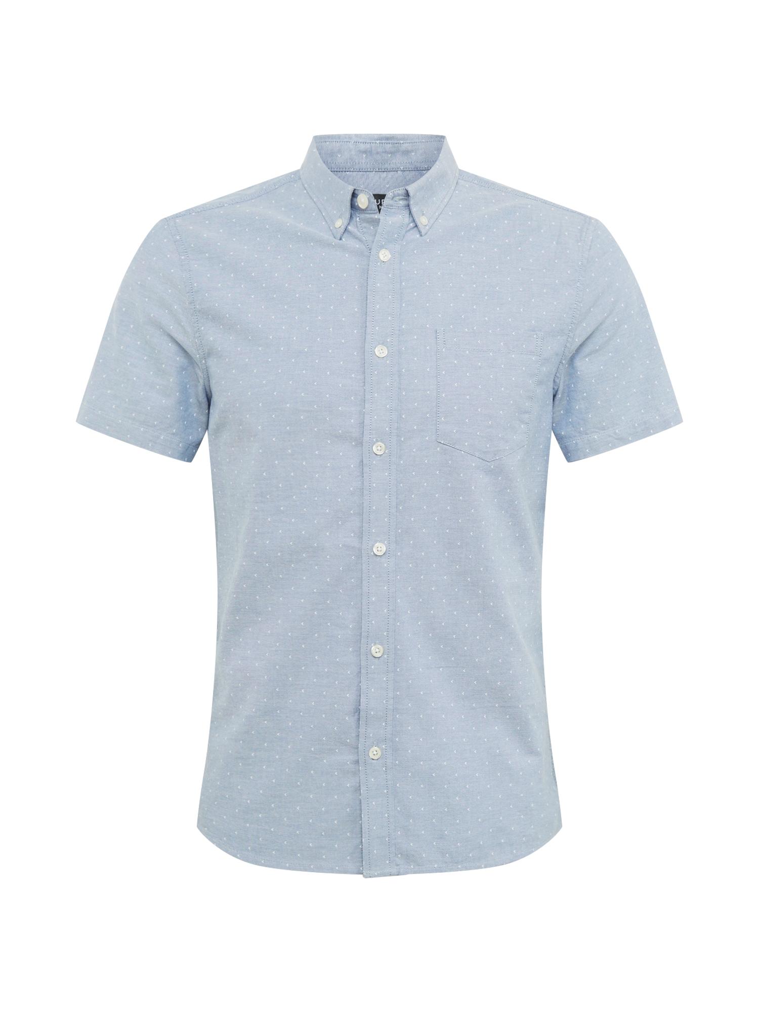BURTON MENSWEAR LONDON Košeľa 'Oxford'  modré / biela