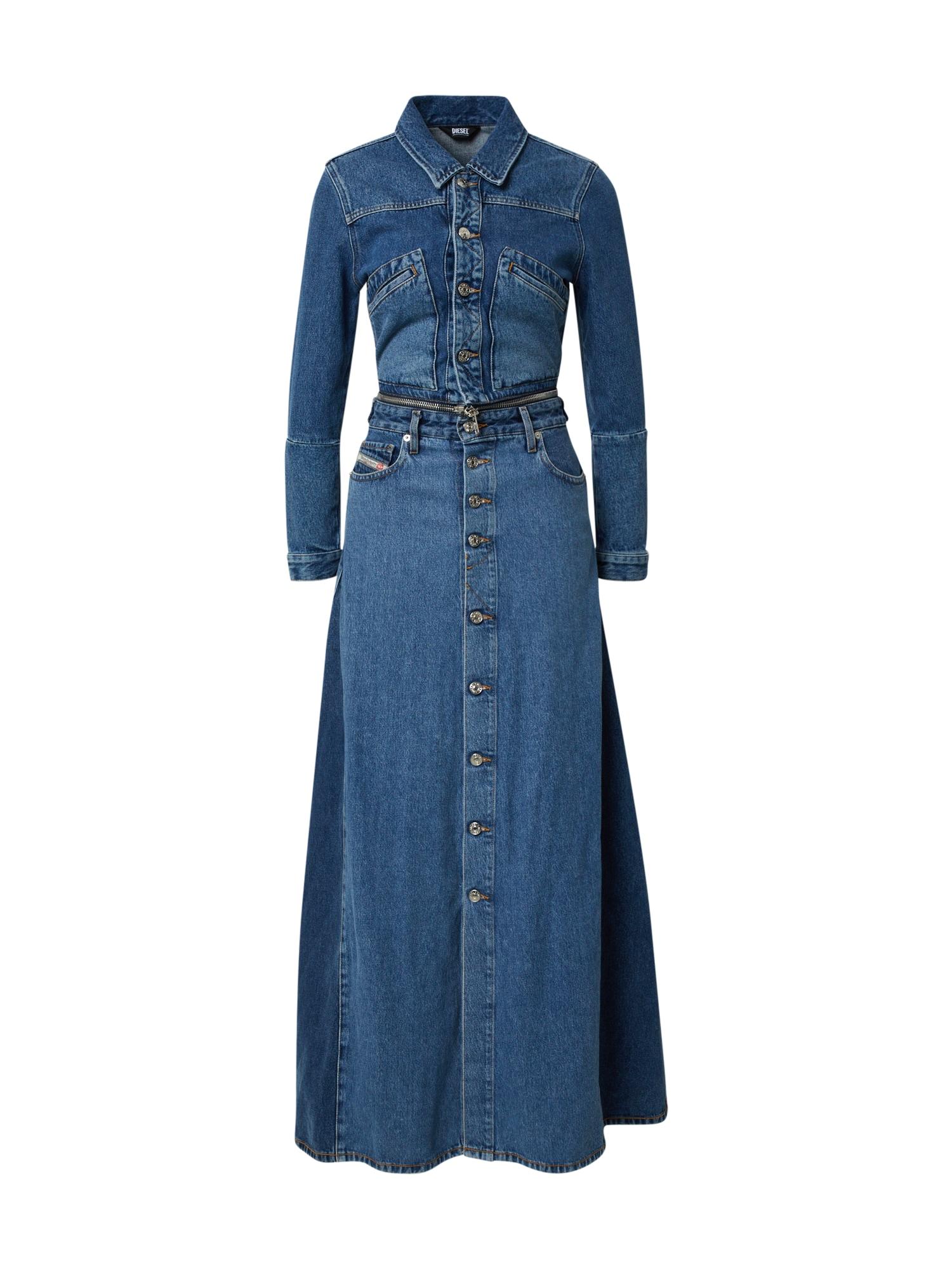 DIESEL Suknelė tamsiai (džinso) mėlyna