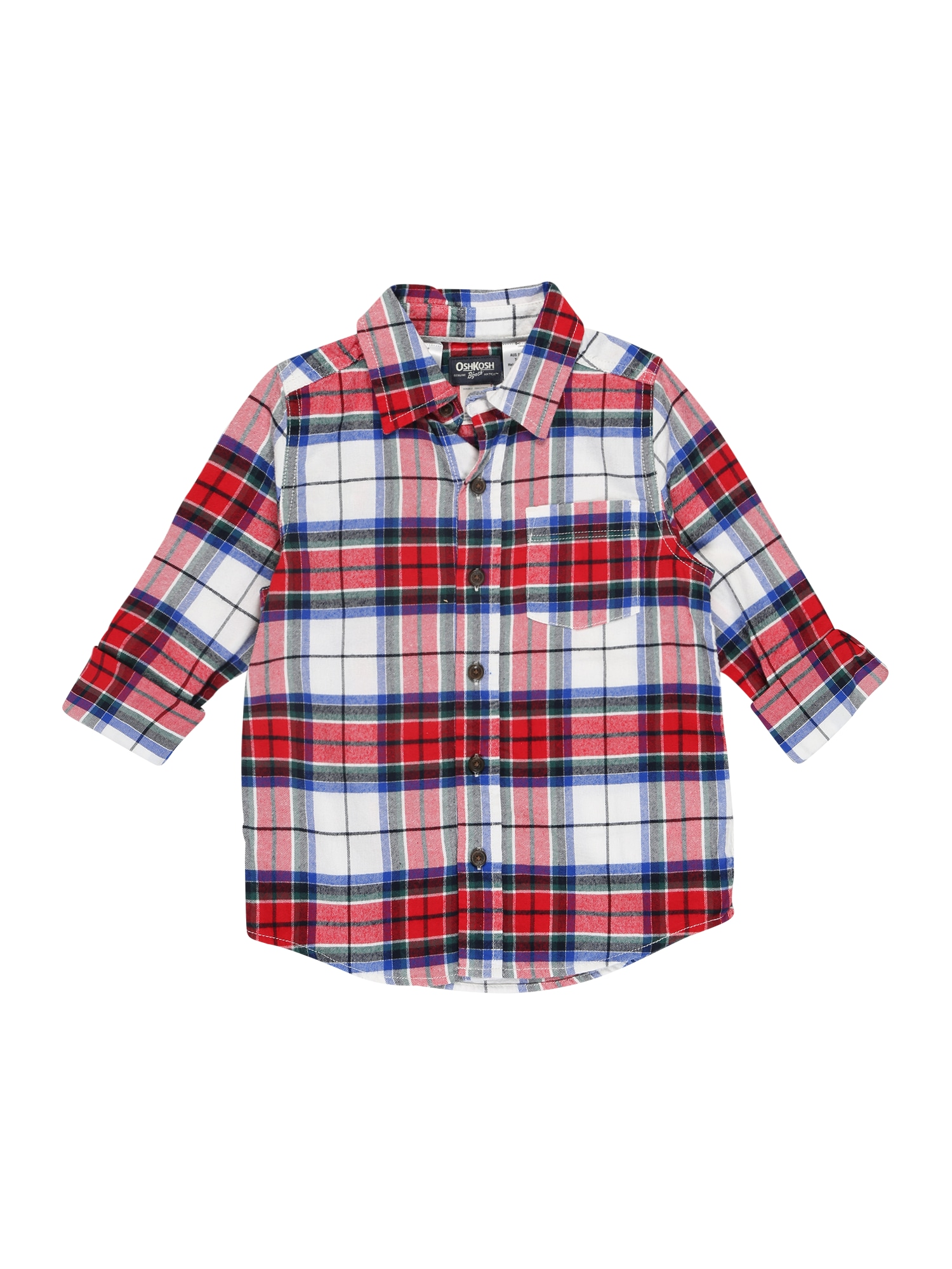 OshKosh Dalykiniai marškiniai raudona / balta