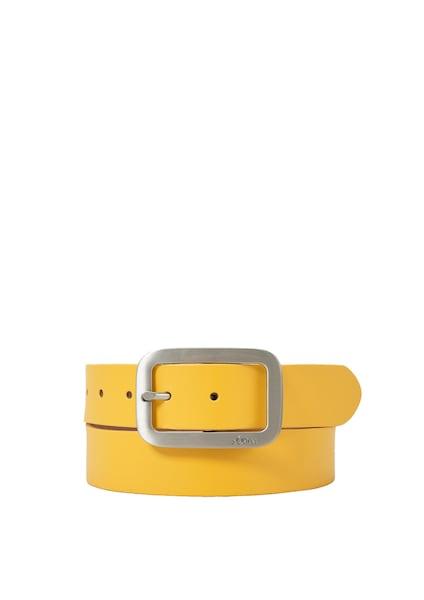 Guertel für Frauen - S.Oliver RED LABEL Ledergürtel gelb silber  - Onlineshop ABOUT YOU