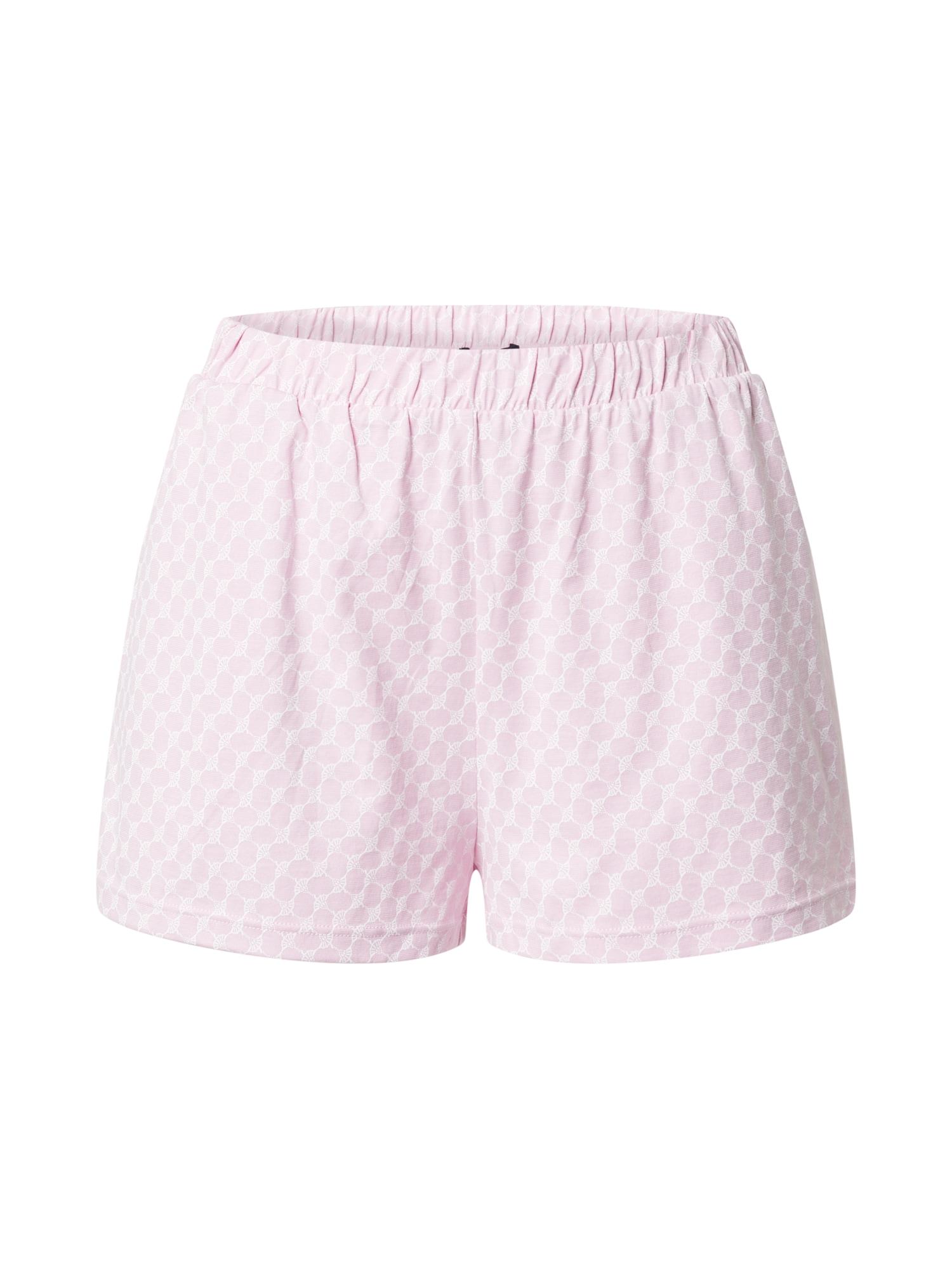 JOOP! Bodywear Pyžamové kalhoty  pink / bílá