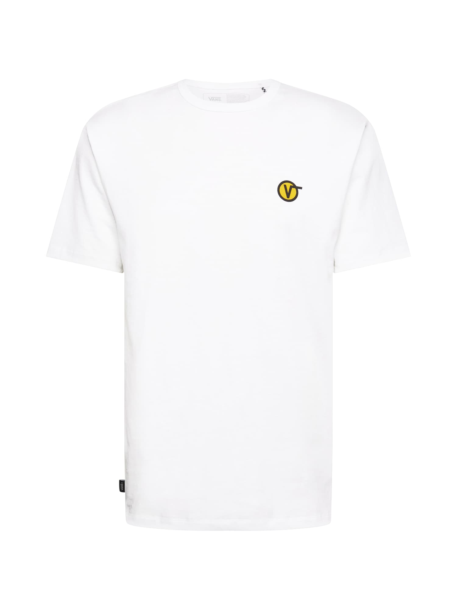 VANS Marškinėliai balta / geltona / juoda