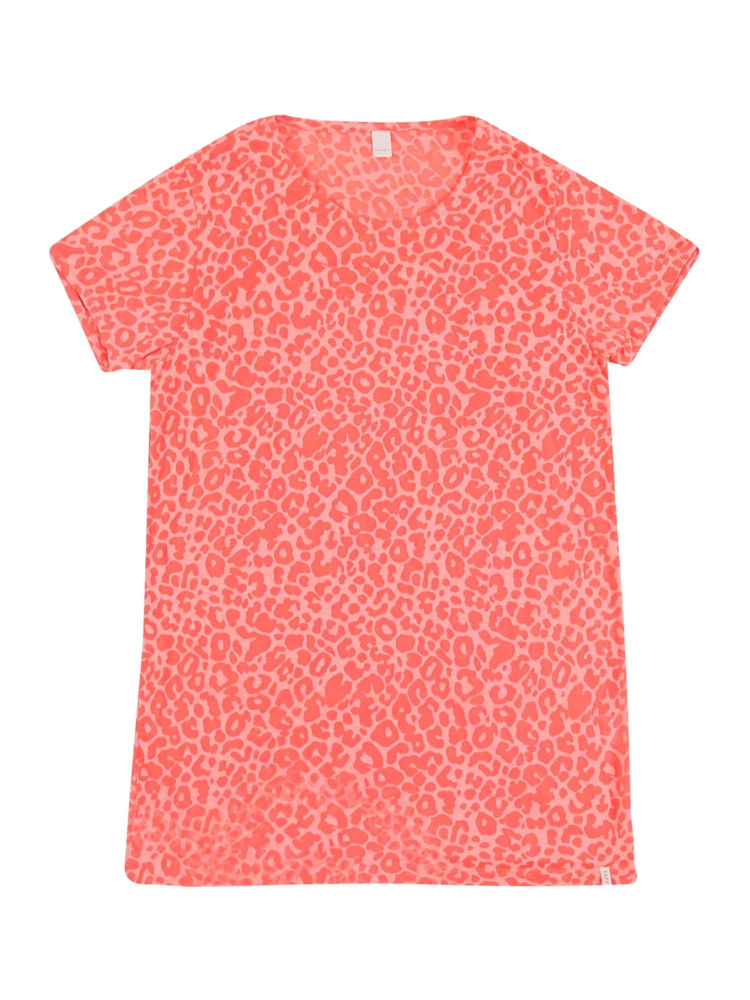 ESPRIT Marškinėliai tamsiai oranžinė / koralų splava