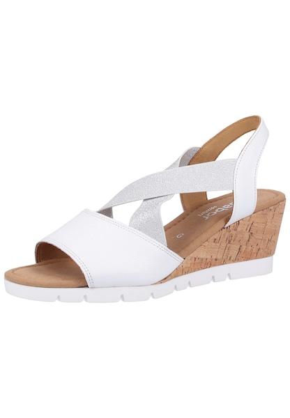 Sandalen für Frauen - GABOR Sandalette silber weiß  - Onlineshop ABOUT YOU