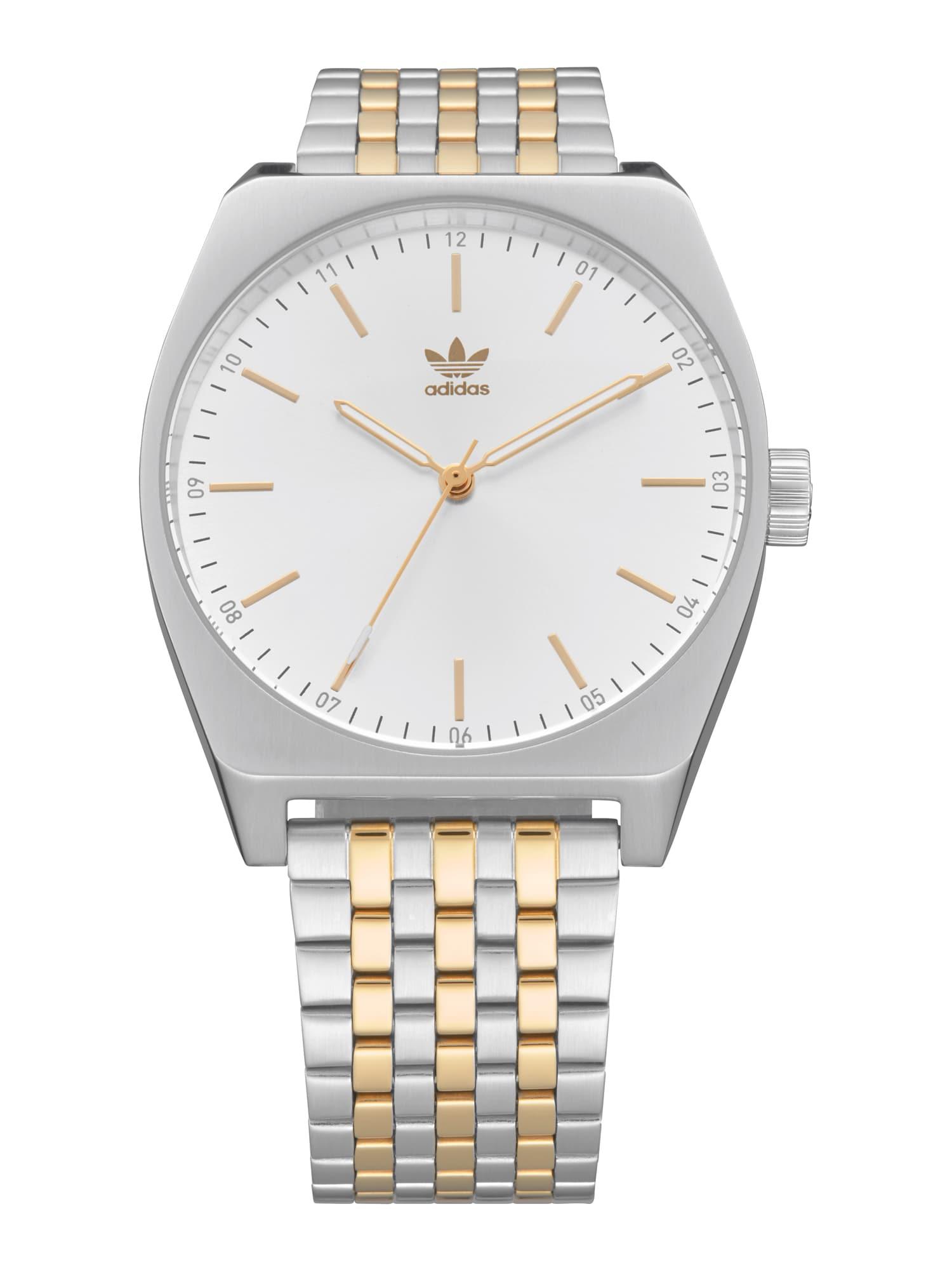 ADIDAS ORIGINALS Analoginis (įprastinio dizaino) laikrodis 'Process_M1' balta / sidabras / auksas