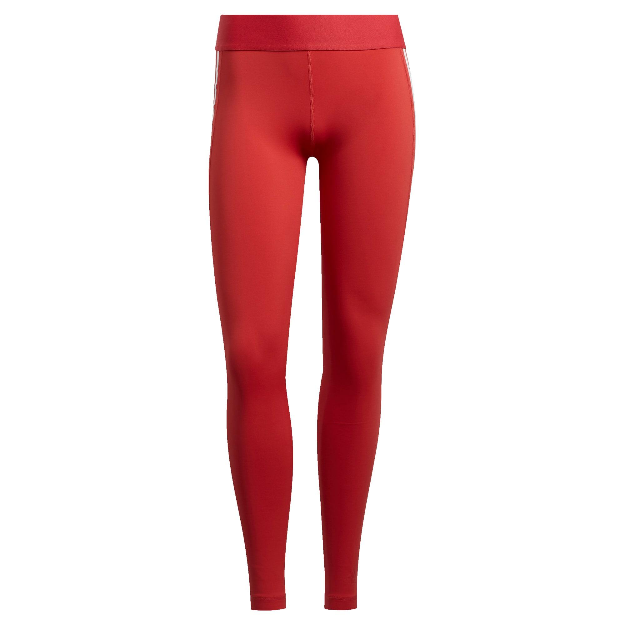 ADIDAS PERFORMANCE Sportovní kalhoty 'ALPHASKIN SP 3 STRIPE'  tmavě červená