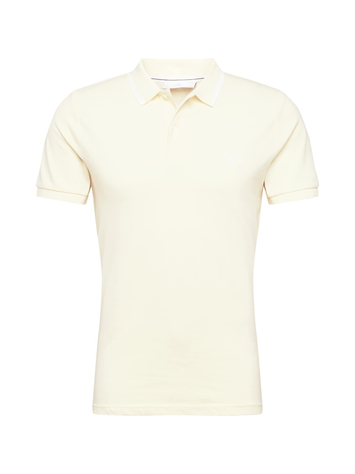 Calvin Klein Jeans Marškinėliai balta / geltona