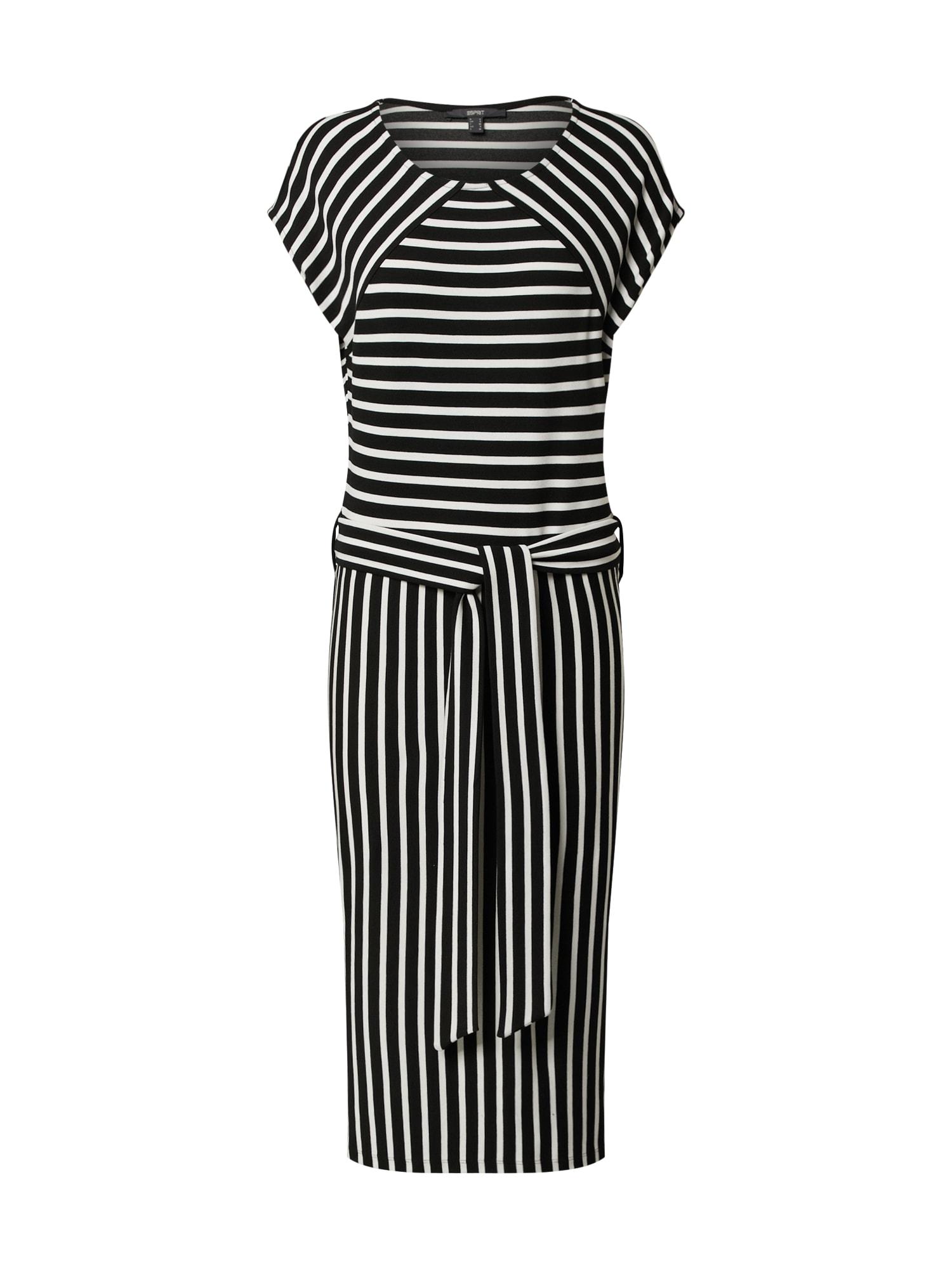 Esprit Collection Vasarinė suknelė juoda / balta