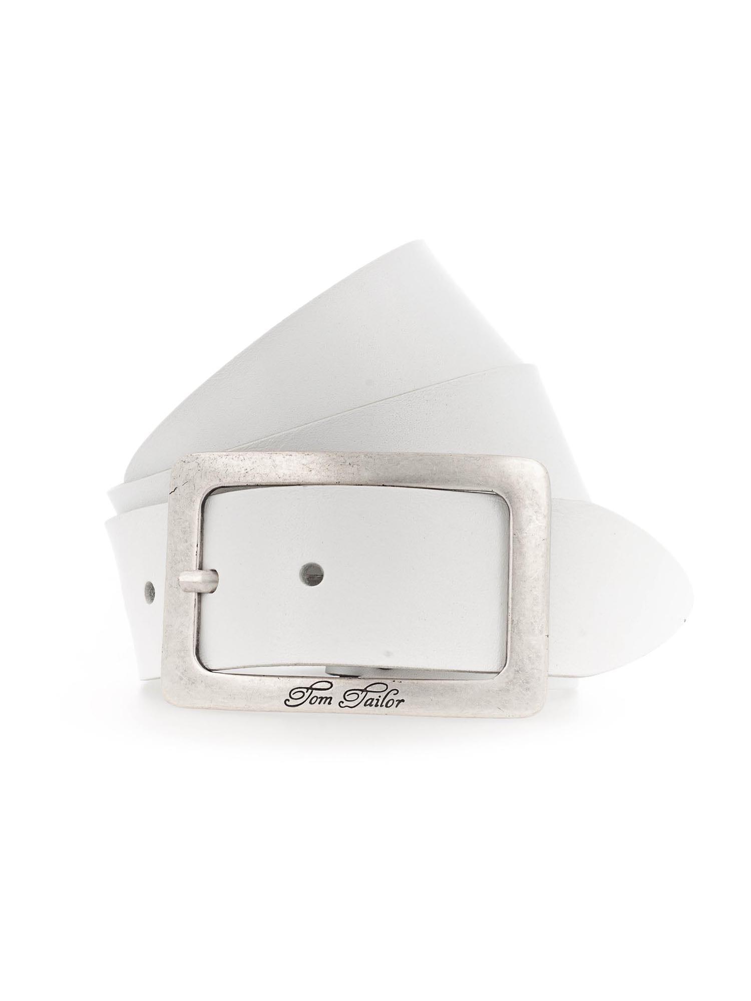 TOM TAILOR Diržas natūrali balta / sidabrinė
