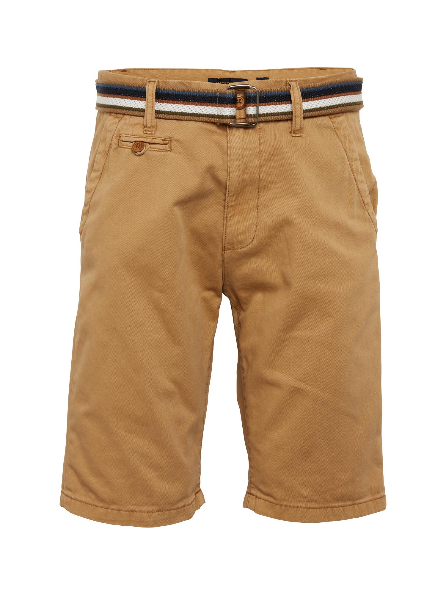 INDICODE JEANS Chino stiliaus kelnės 'Royce' ruda (konjako)
