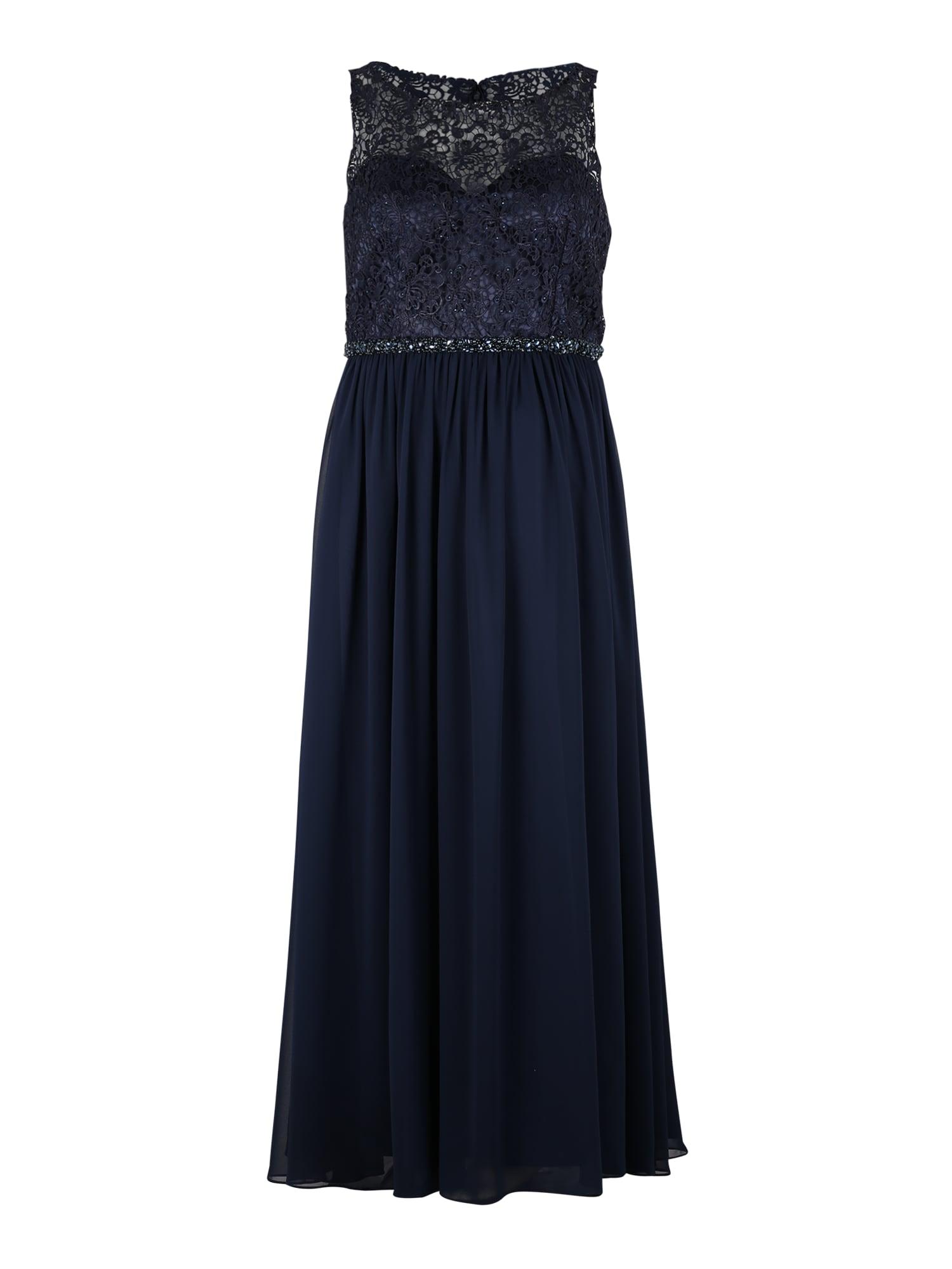 My Mascara Curves Večerné šaty 'LACE TOP'  námornícka modrá