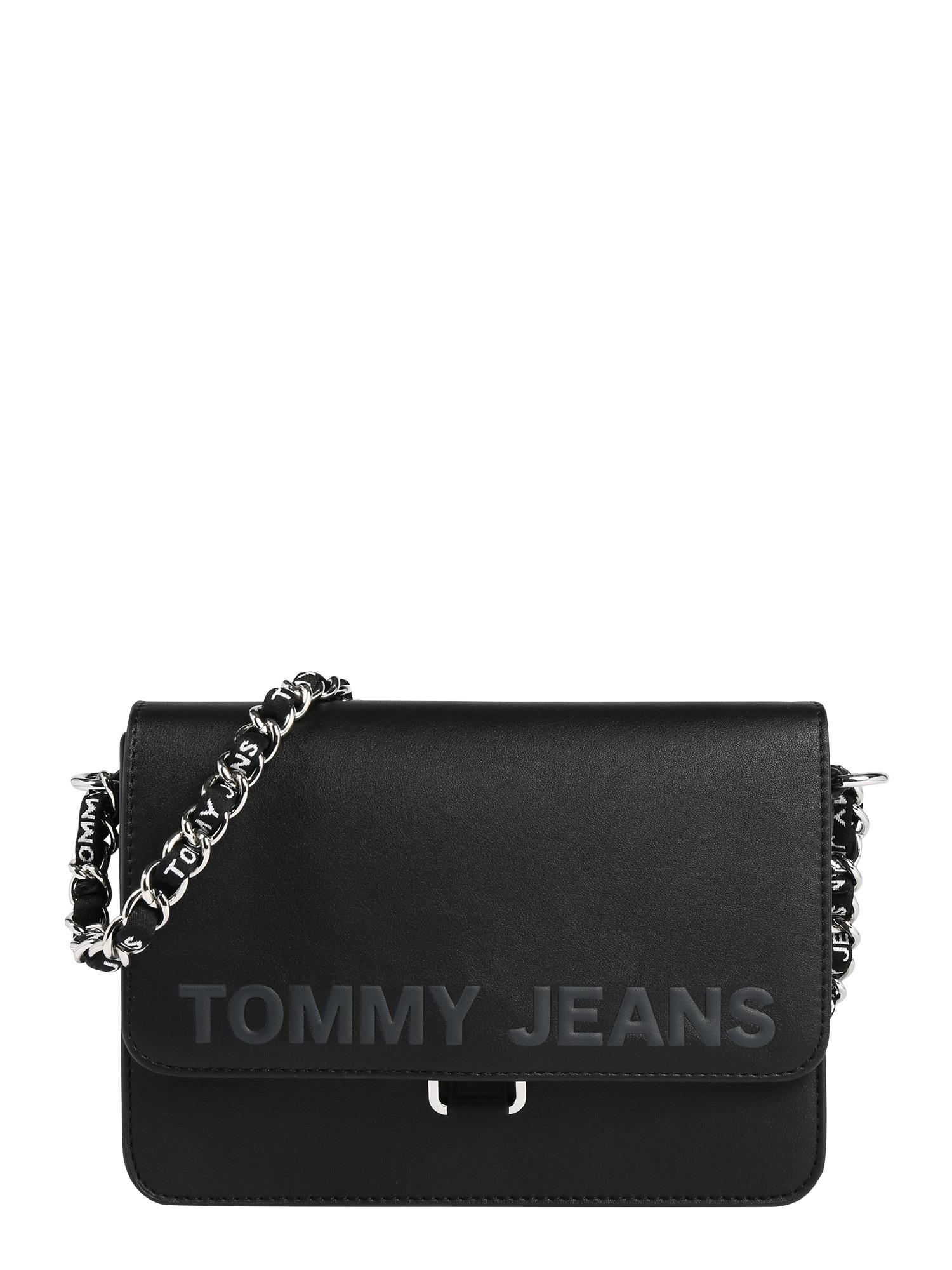 Tommy Jeans Taška cez rameno 'TJW ITEM FLAP CROSSOVER'  čierna