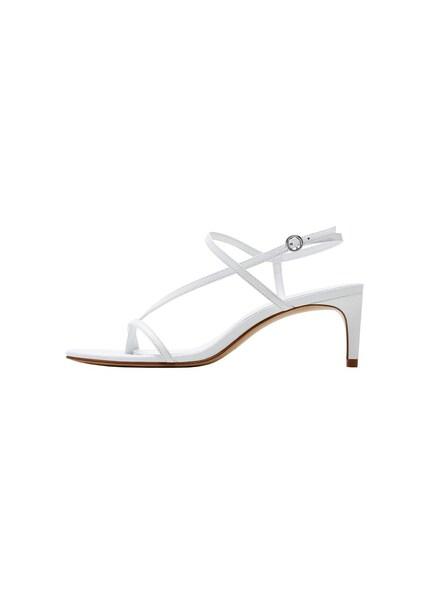 Sandalen für Frauen - MANGO Sandaletten 'Saloon' weiß  - Onlineshop ABOUT YOU