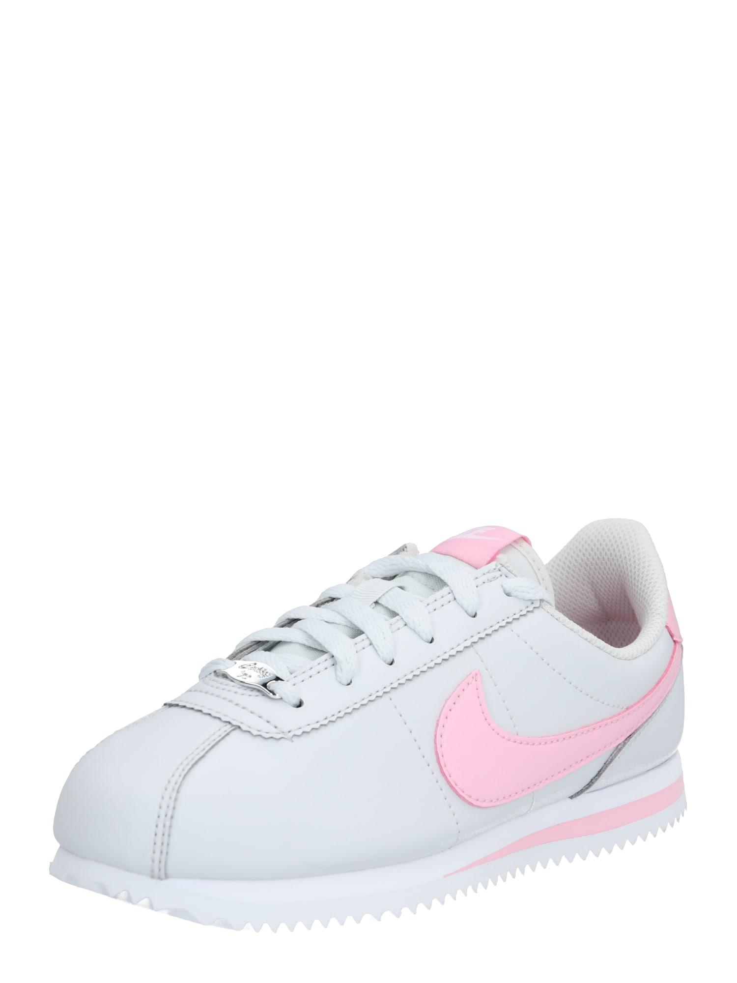 Nike Sportswear Tenisky 'Cortez'  strieborná / ružová / biela