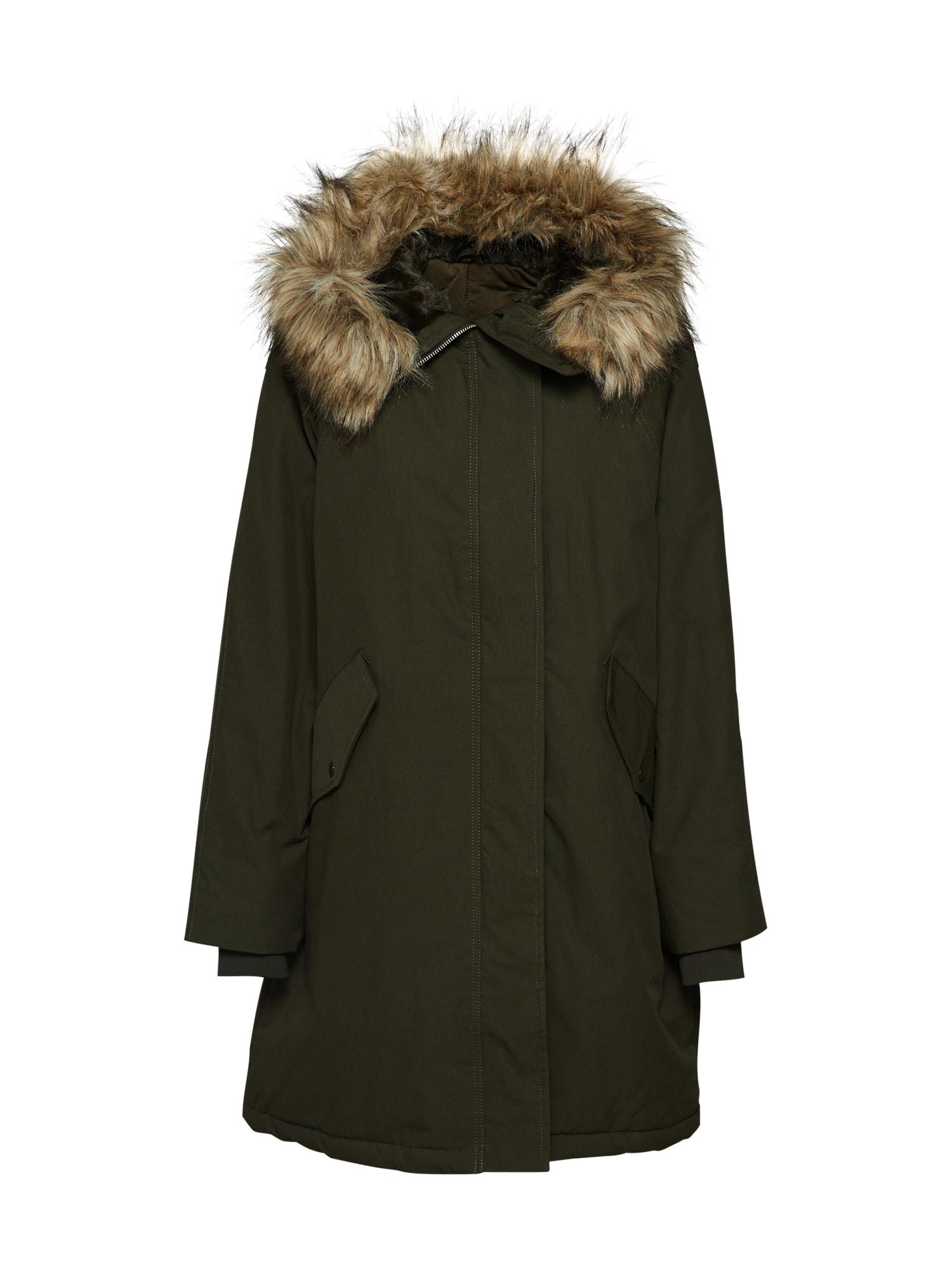 Filippa K Ilga žieminė striukė 'Greta Parka' alyvuogių spalva