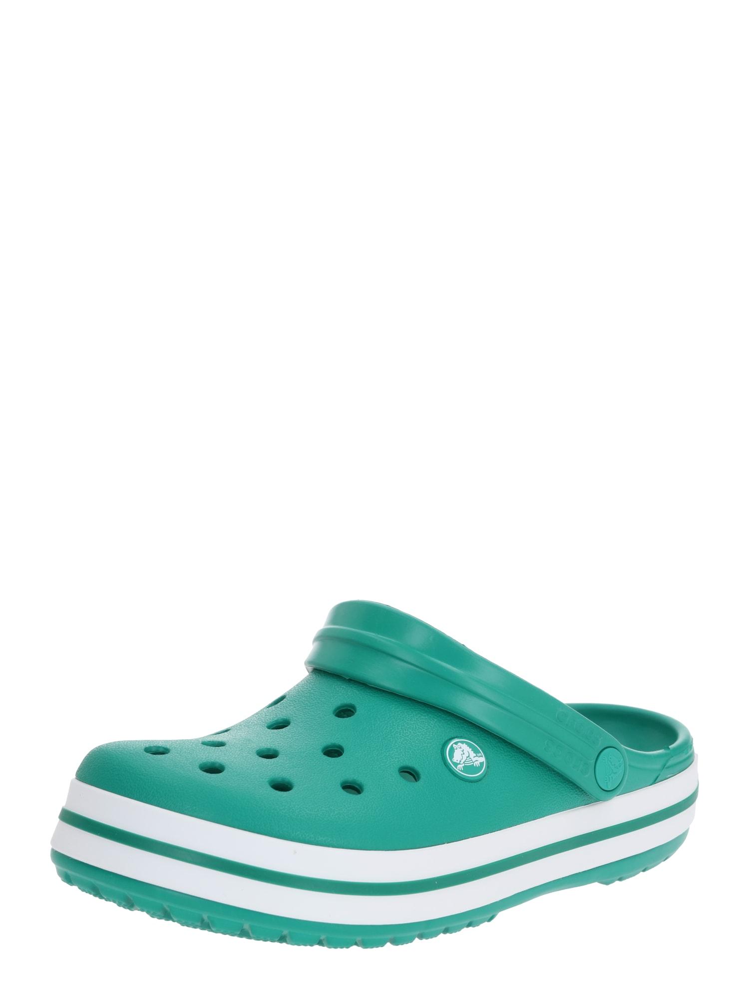 Crocs Klumpės tamsiai žalia / balta