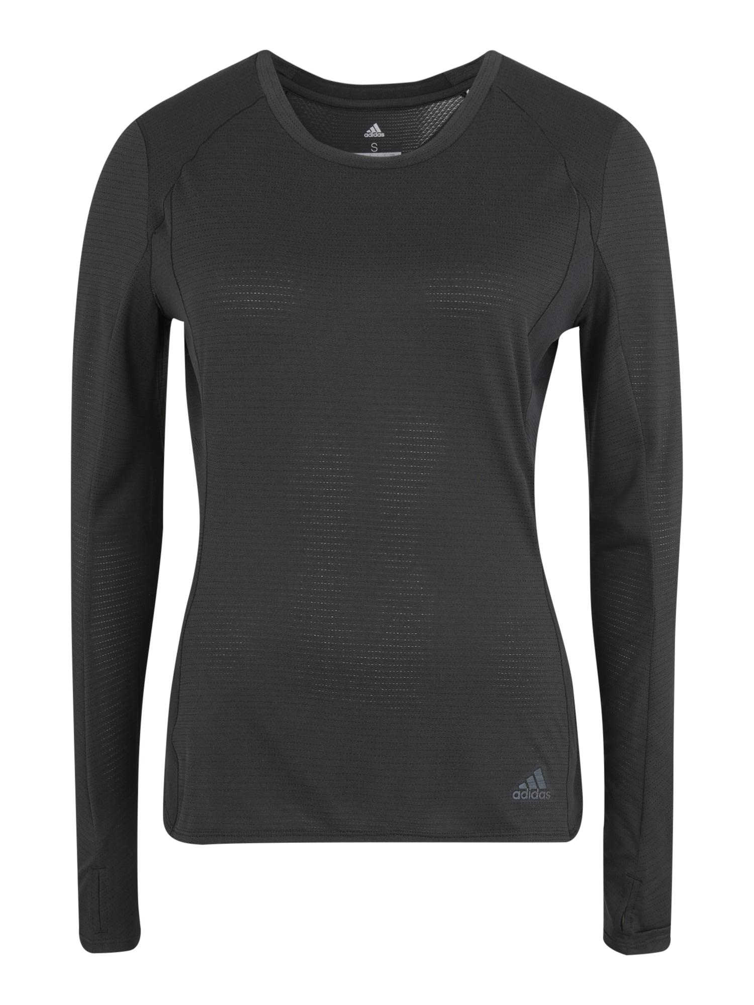 Funkční tričko SUPERNOVA LS T černá ADIDAS PERFORMANCE