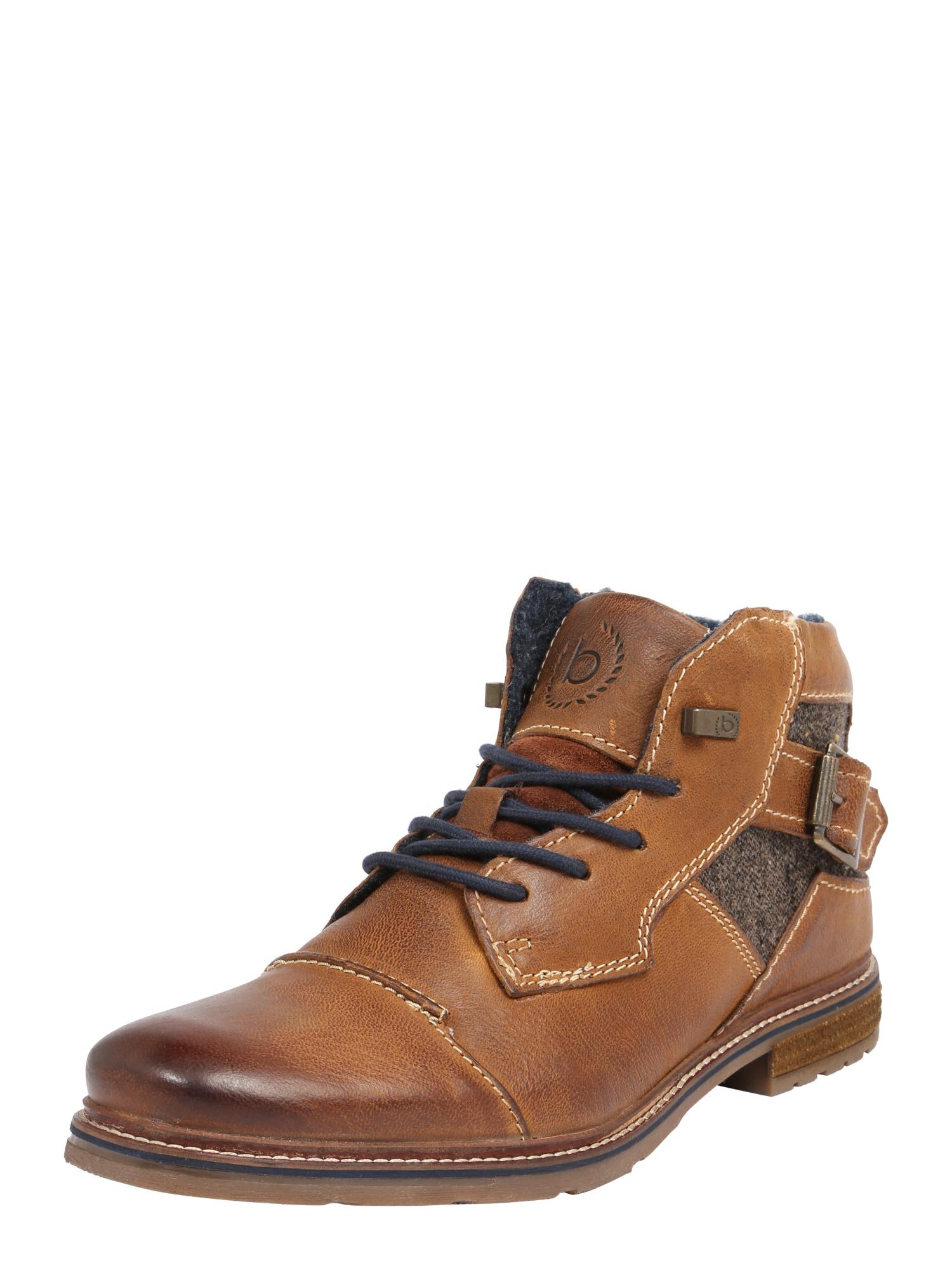 bugatti Auliniai batai su raišteliais 'Vandal II' ruda (konjako)