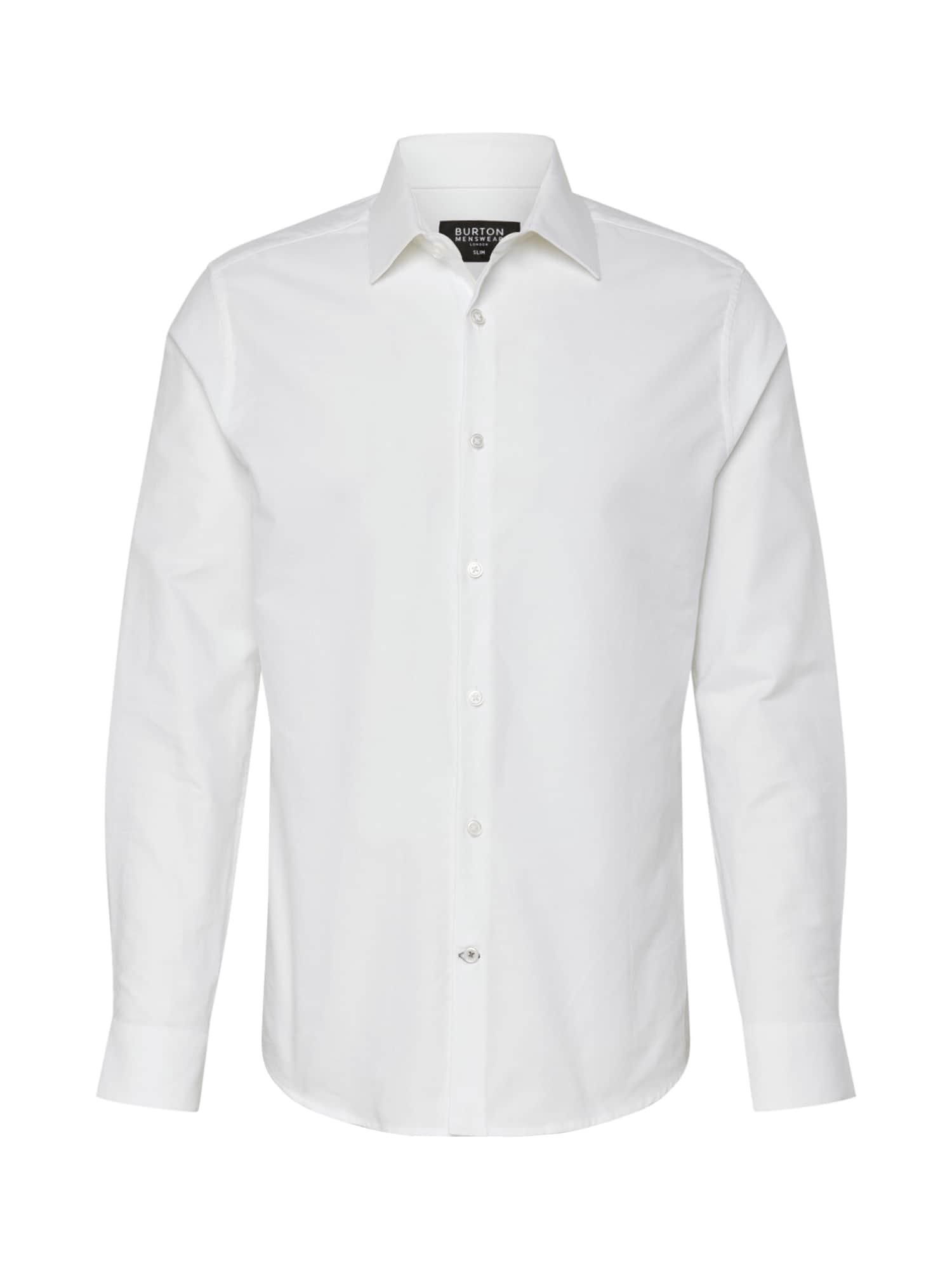 BURTON MENSWEAR LONDON Košeľa 'FORMAL SHIRT'  biela