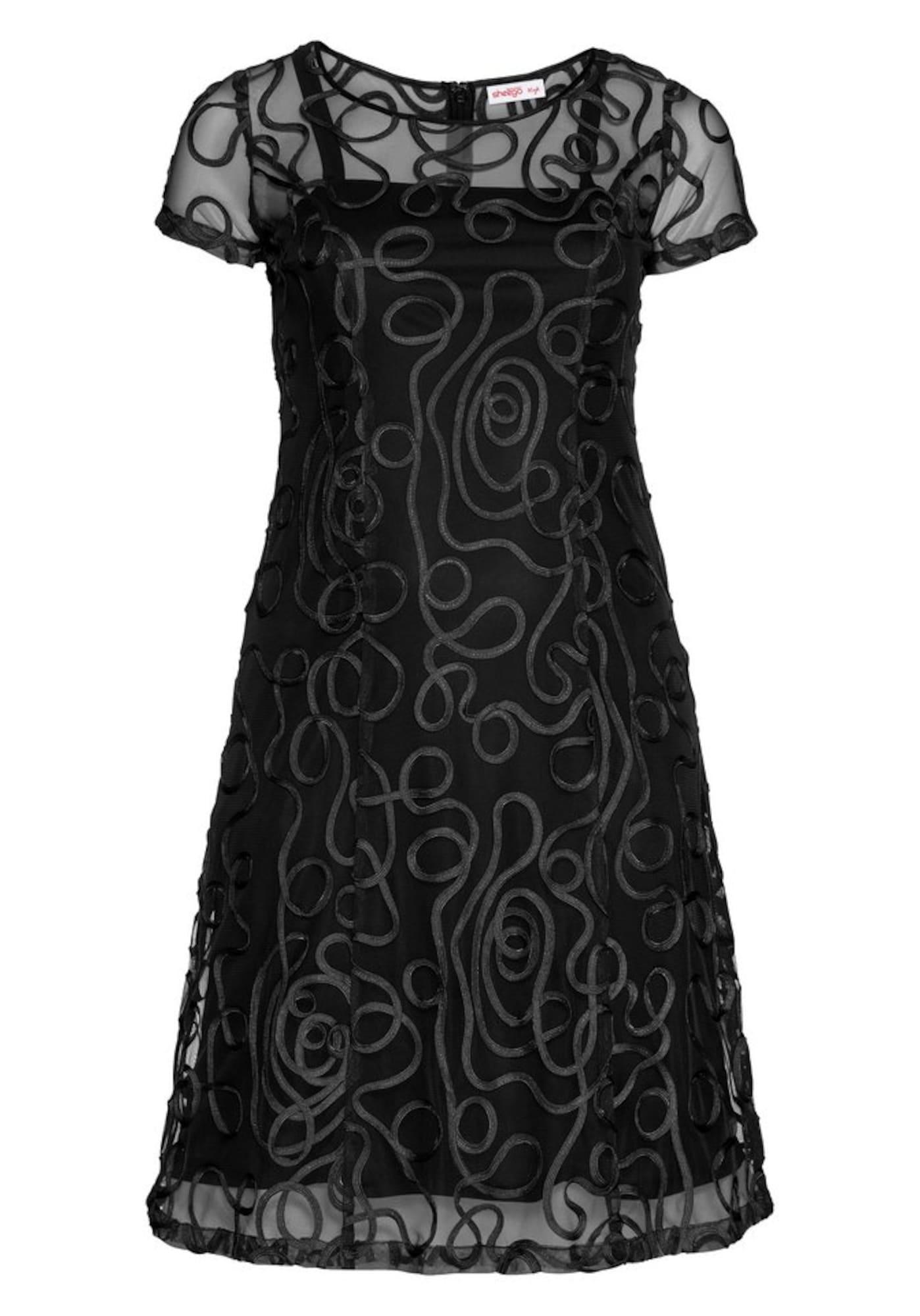 SHEEGO Kokteilinė suknelė juoda