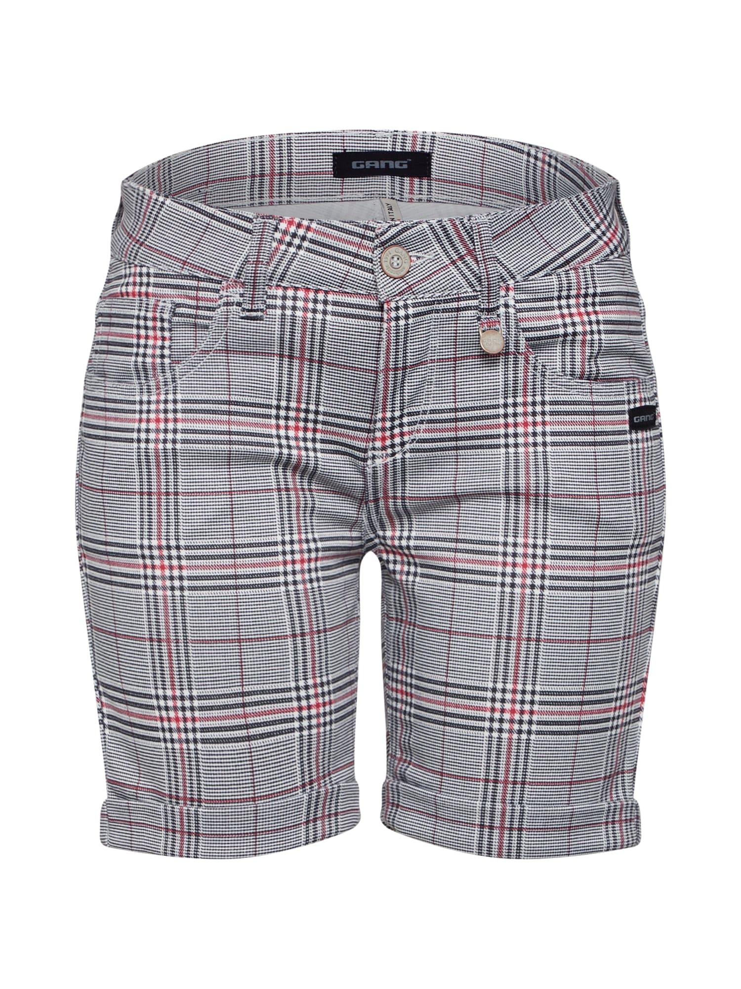 Kalhoty ALICIA šedá červená černá Gang