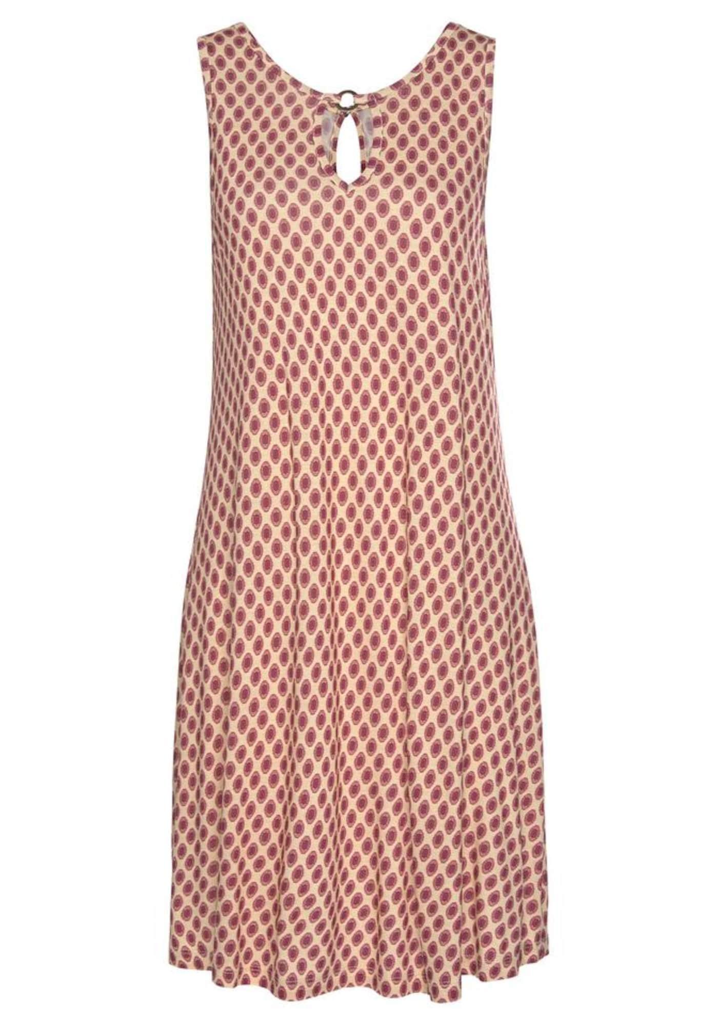 LASCANA Paplūdimio suknelė smėlio / raudona / karmino raudona