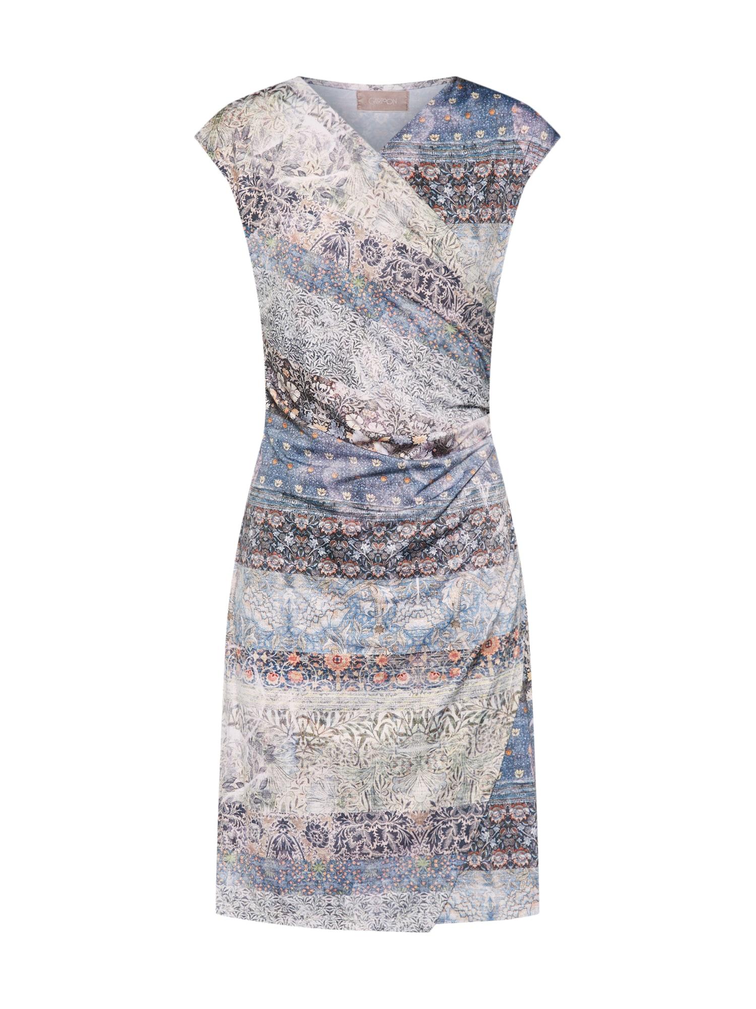 Šaty nebeská modř přírodní bílá Cartoon