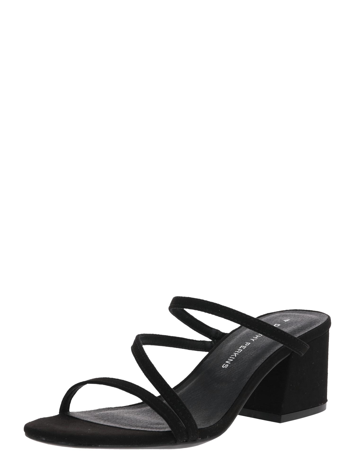 Dorothy Perkins Remienkové sandále 'Sylon Minimal'  čierna