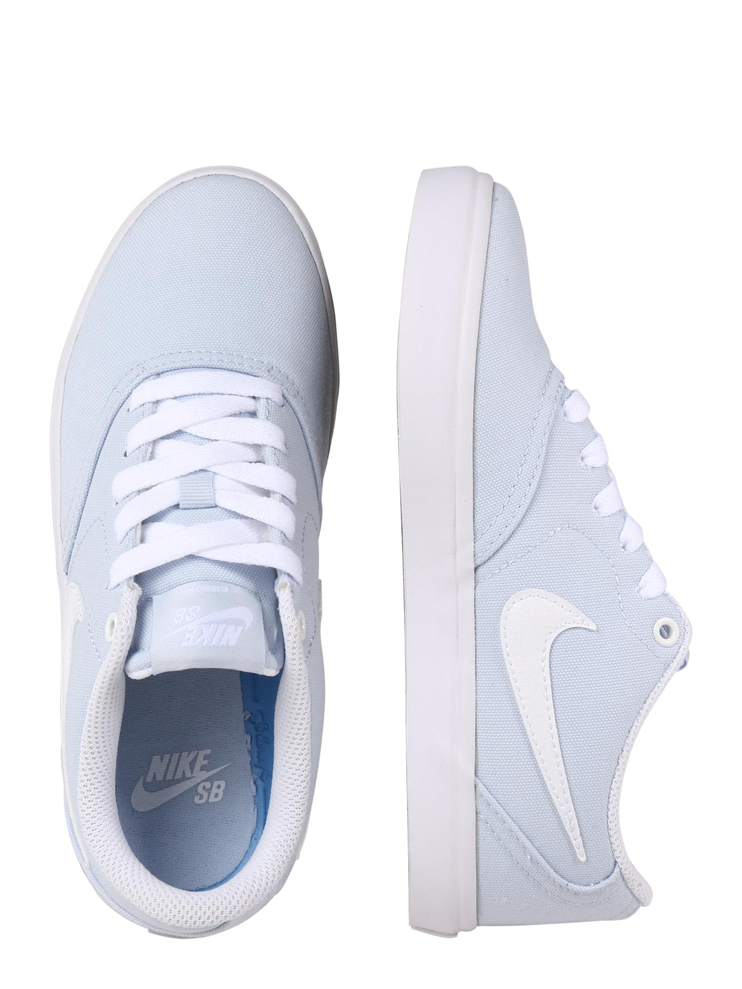 Nike SB, Damen Sportschoen Solarsoft Canvas, blauw / wit