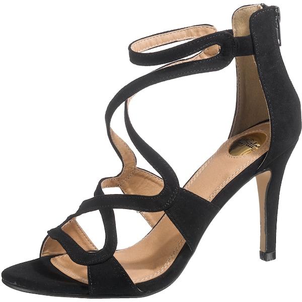 Sandalen für Frauen - BUFFALO Riemchensandaletten schwarz  - Onlineshop ABOUT YOU