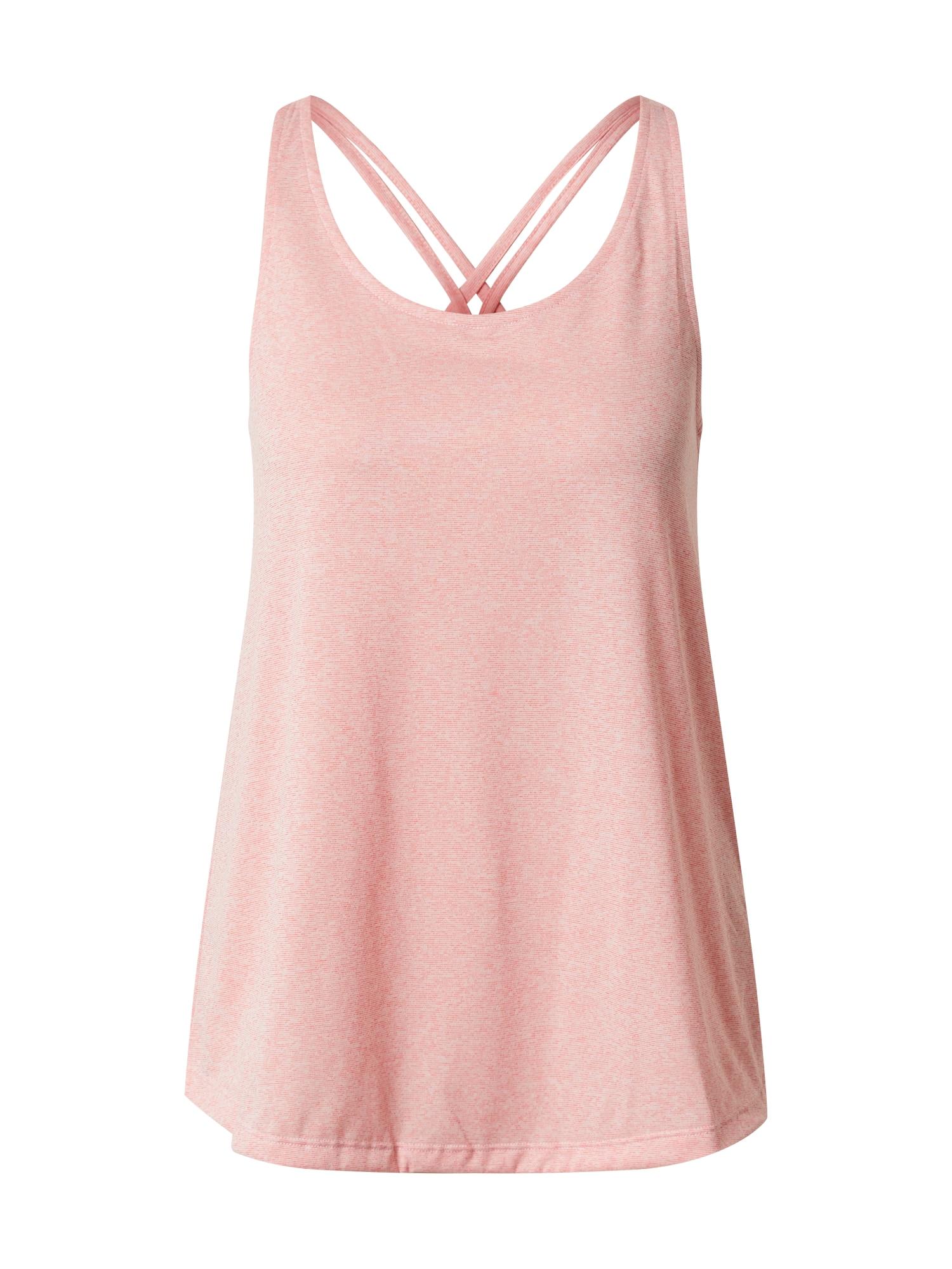 ADIDAS PERFORMANCE Sportiniai marškinėliai be rankovių smėlio / rožių spalva