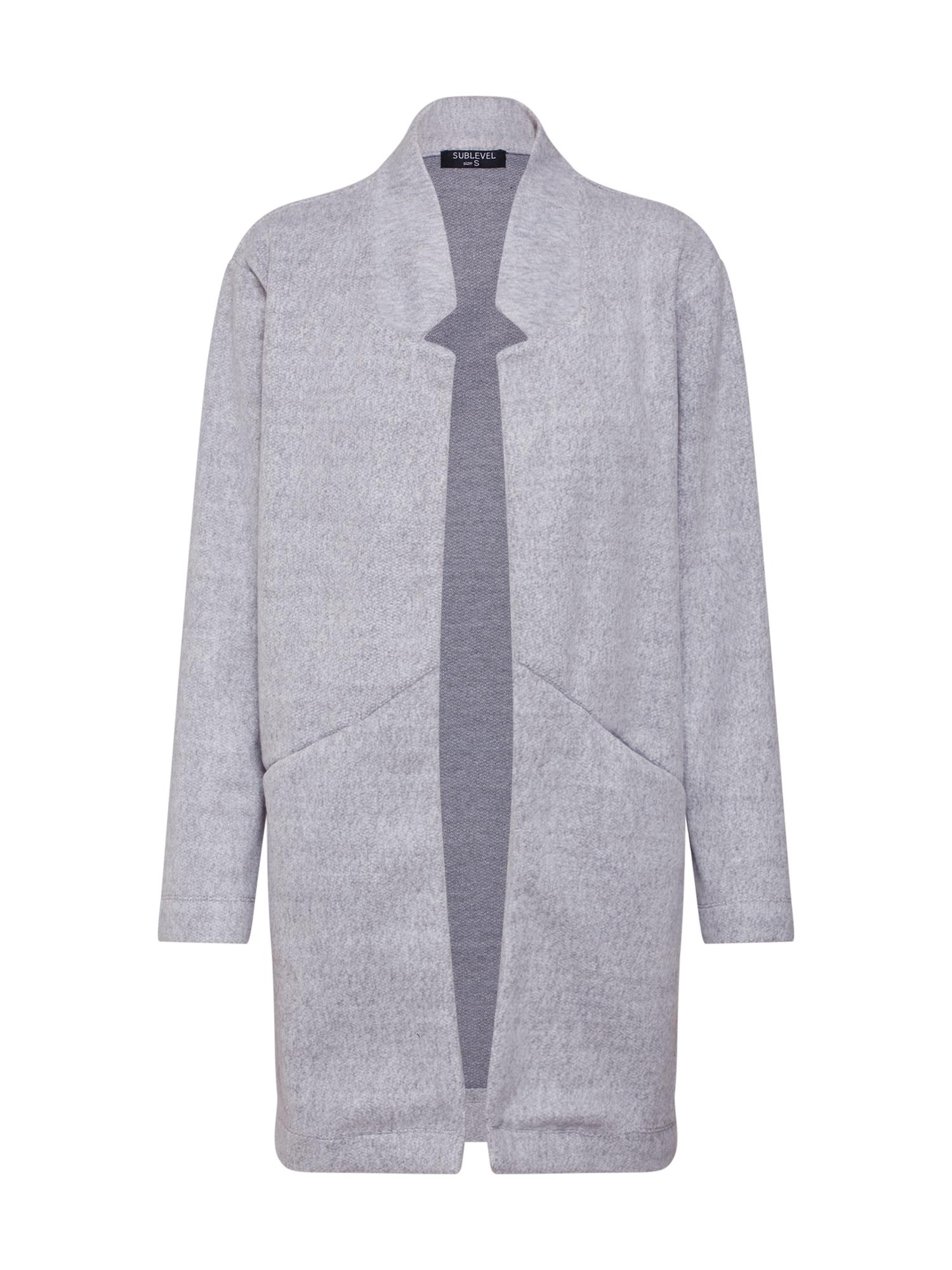 Přechodný kabát Ladies sweat světle šedá Sublevel