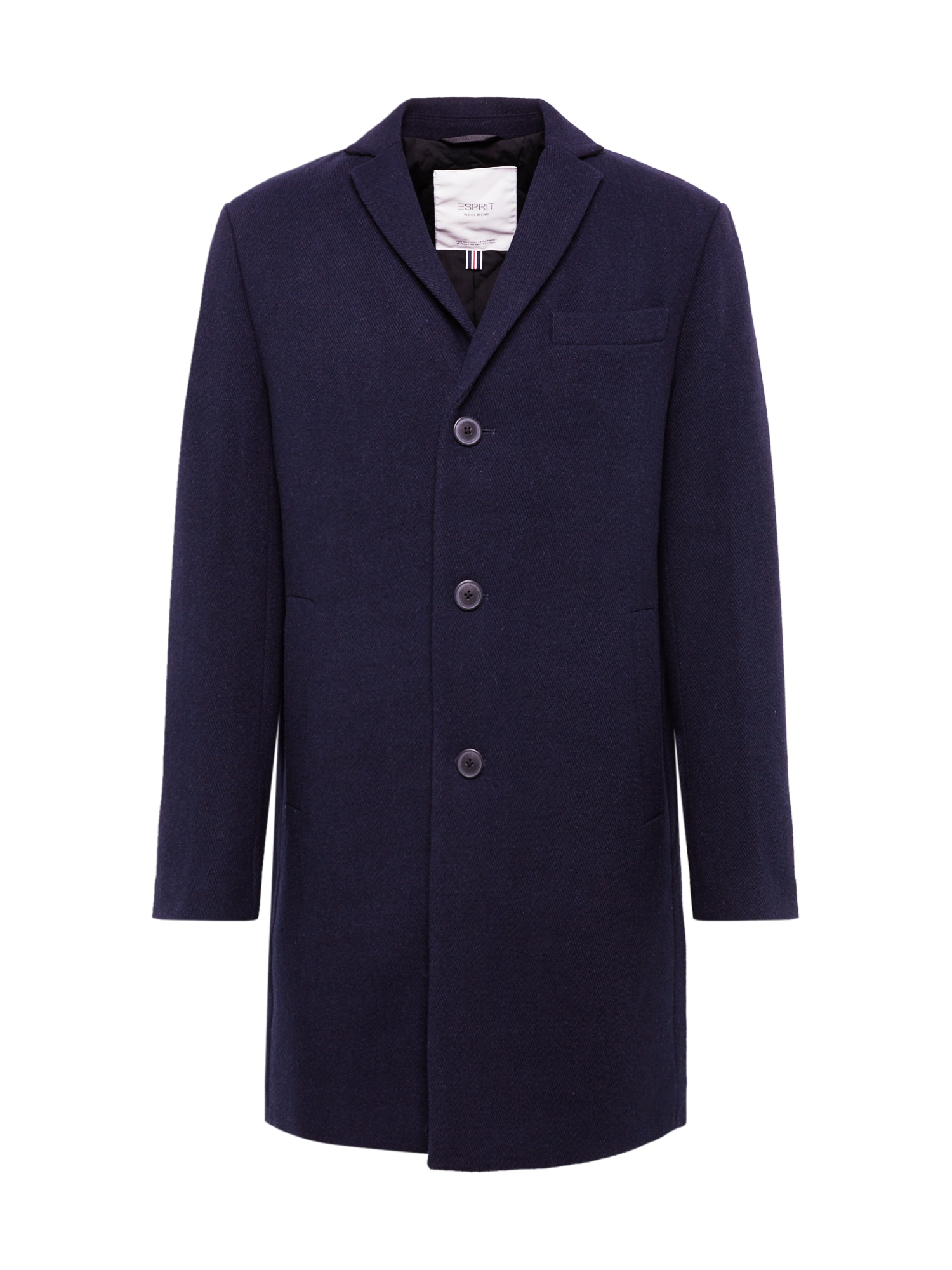 ESPRIT Rudeninis-žieminis paltas 'Twill blz coat*' tamsiai mėlyna