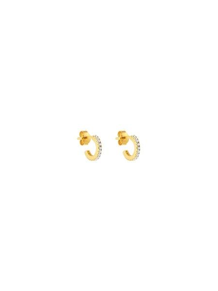Ohrringe für Frauen - ID Fine Creolen 'White Simplicity' gold weiß  - Onlineshop ABOUT YOU