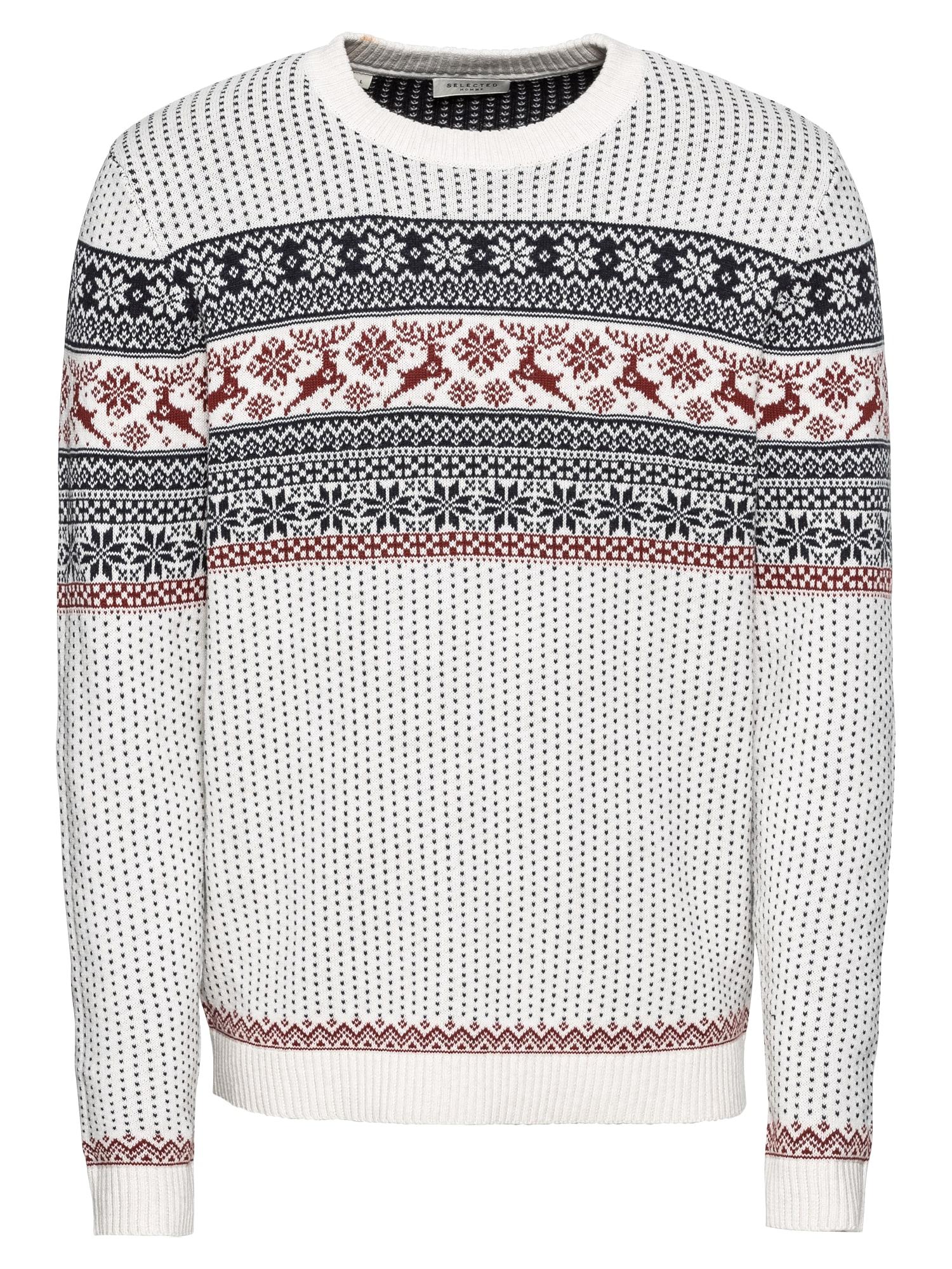 Norwegerpullover 'SLHDEER CREW NECK W EX'   Bekleidung > Pullover > Norwegerpullover   Selected Homme