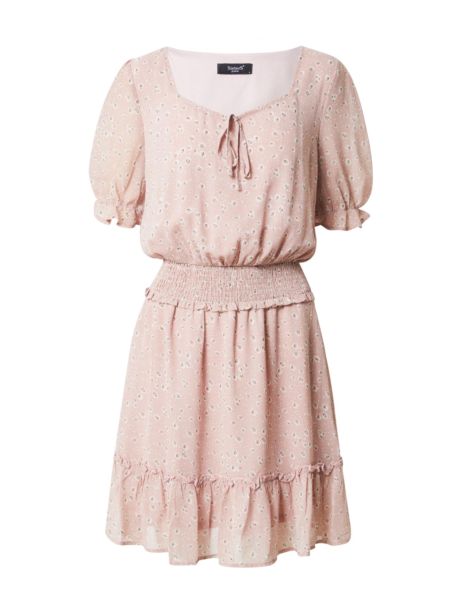 SISTERS POINT Šaty 'ETEL'  biela / ružová