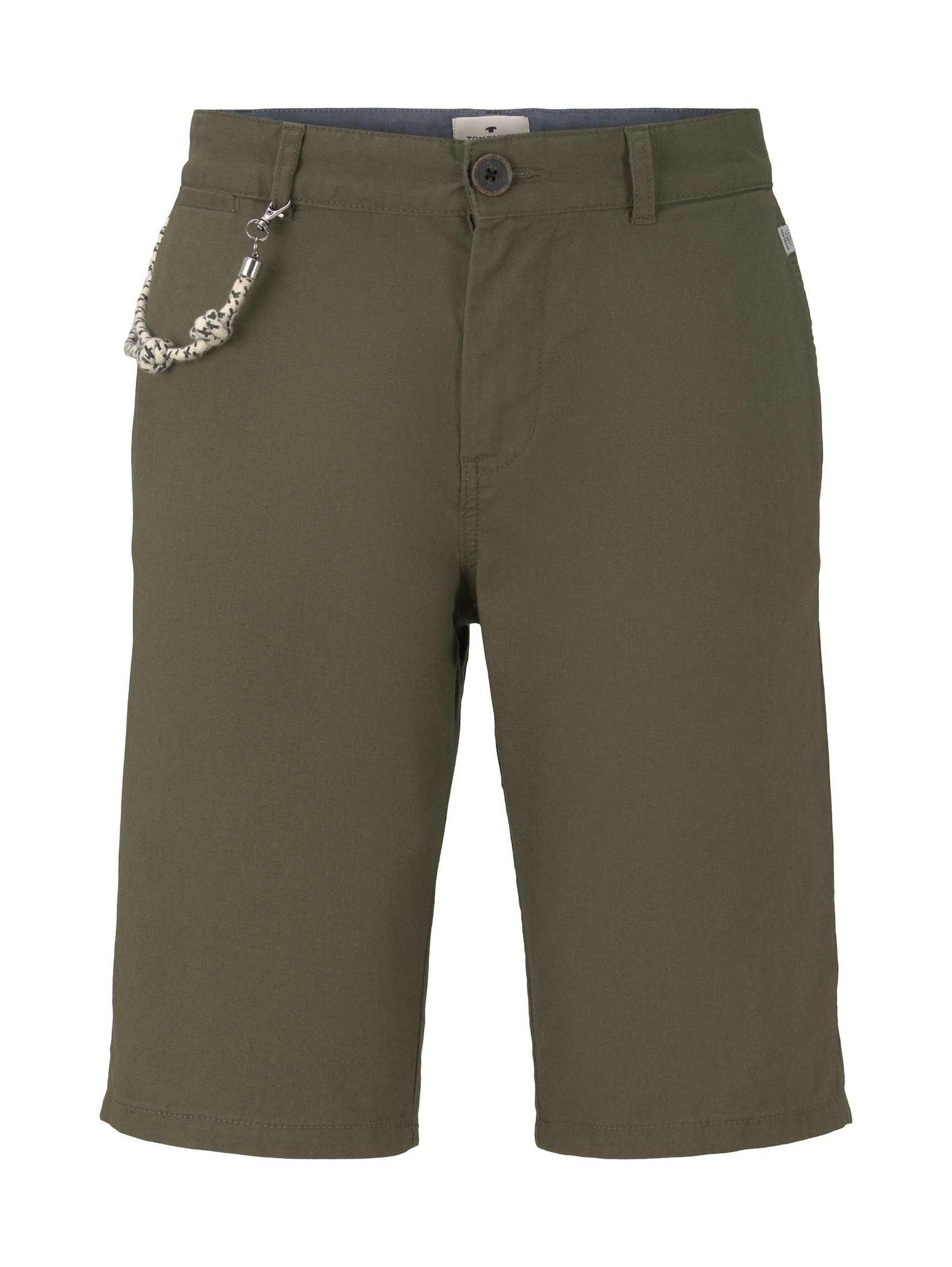 TOM TAILOR Chino stiliaus kelnės rusvai žalia