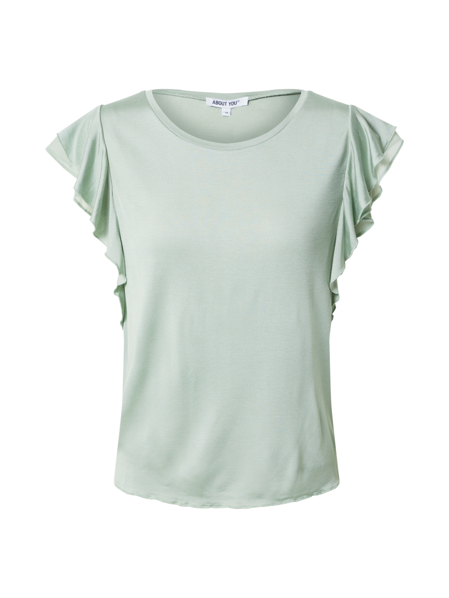 ABOUT YOU Marškinėliai 'Evelyn' mėtų spalva