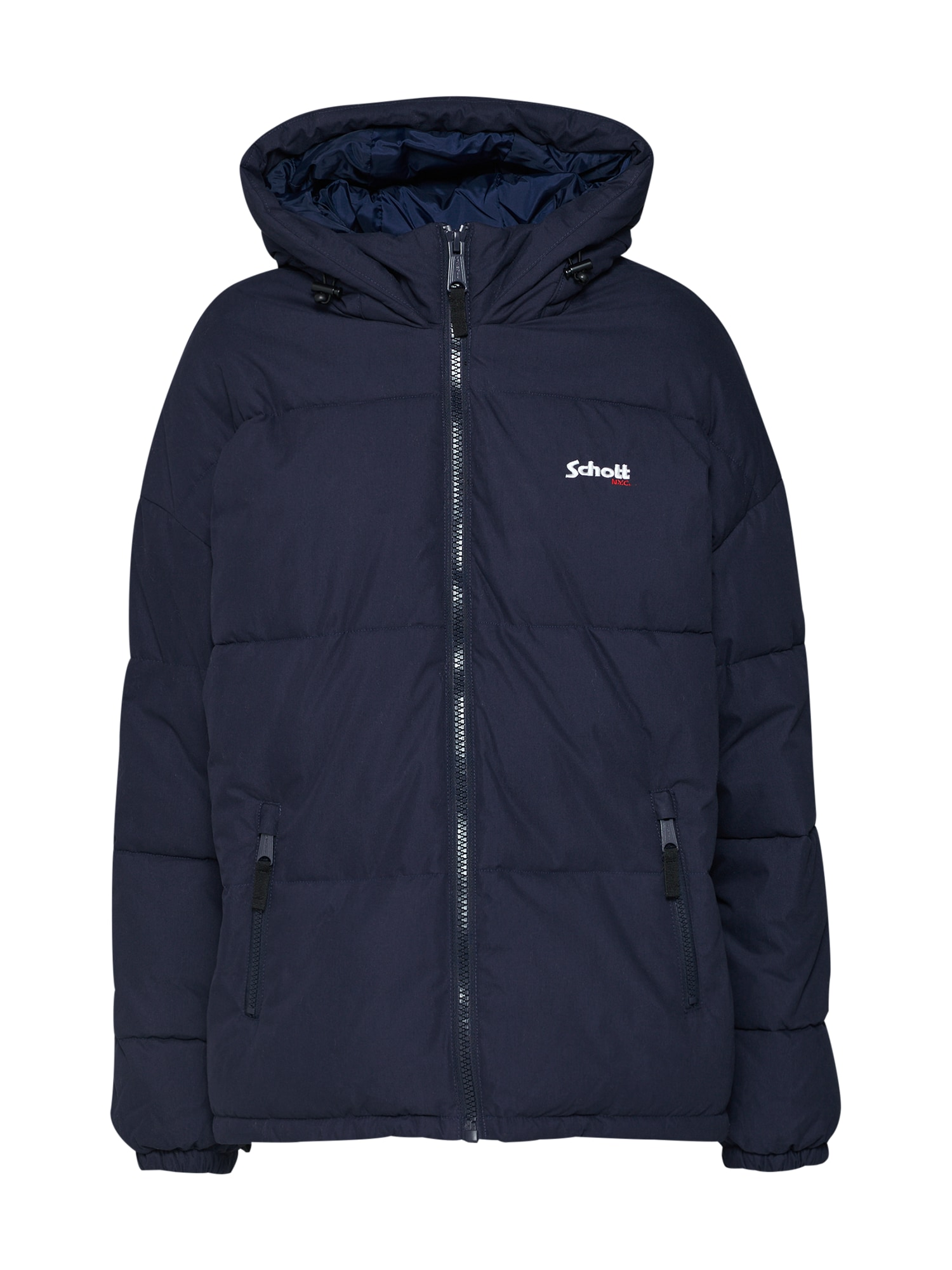 Schott NYC Žieminė striukė 'JKT Alaska' tamsiai mėlyna