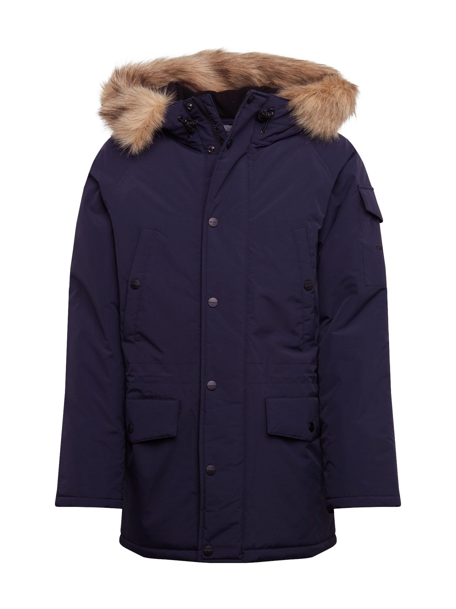 Carhartt WIP Ilga rudeninė-žieminė striukė 'Anchorage Parka' tamsiai mėlyna