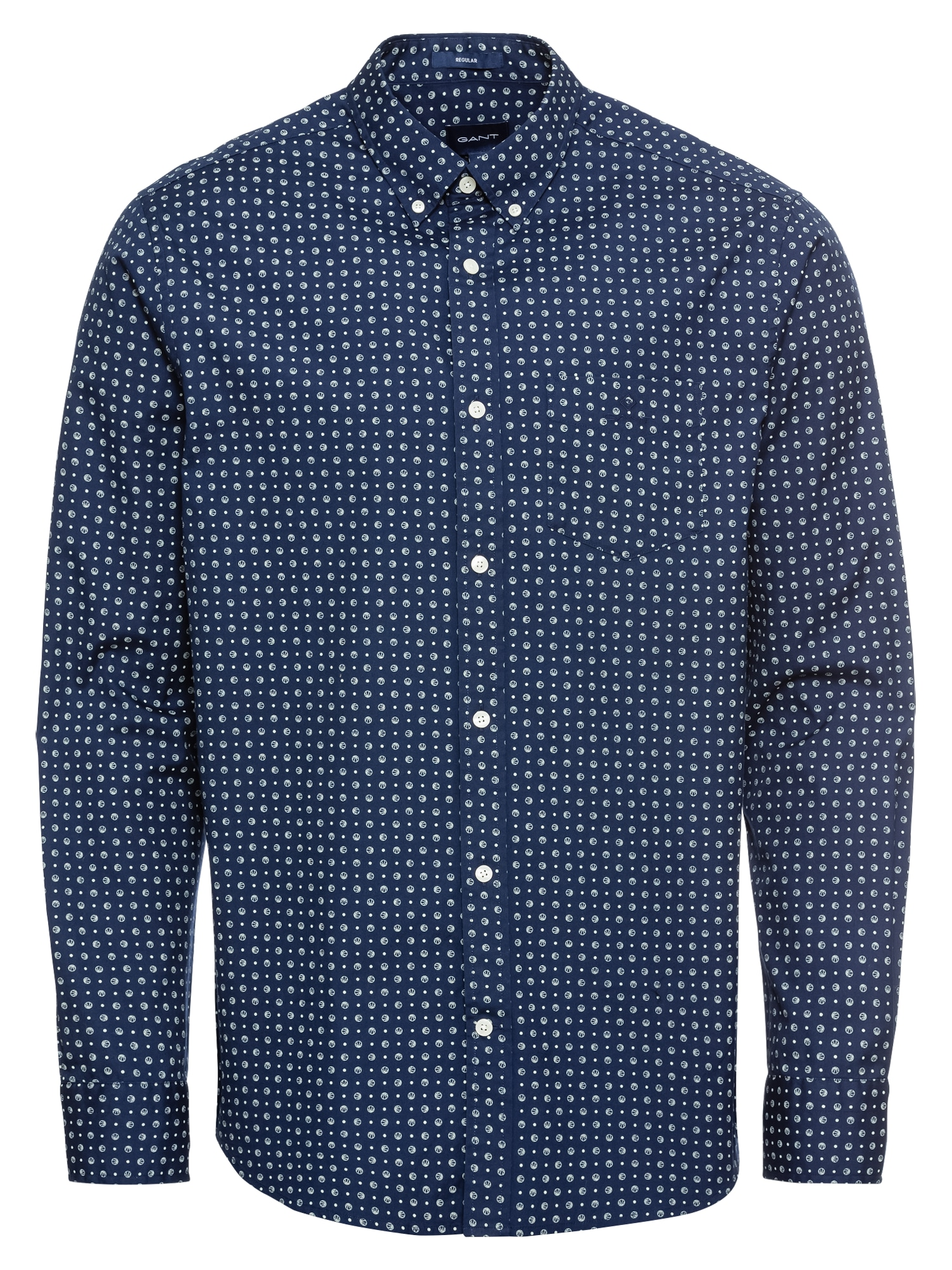 Košile modrá GANT
