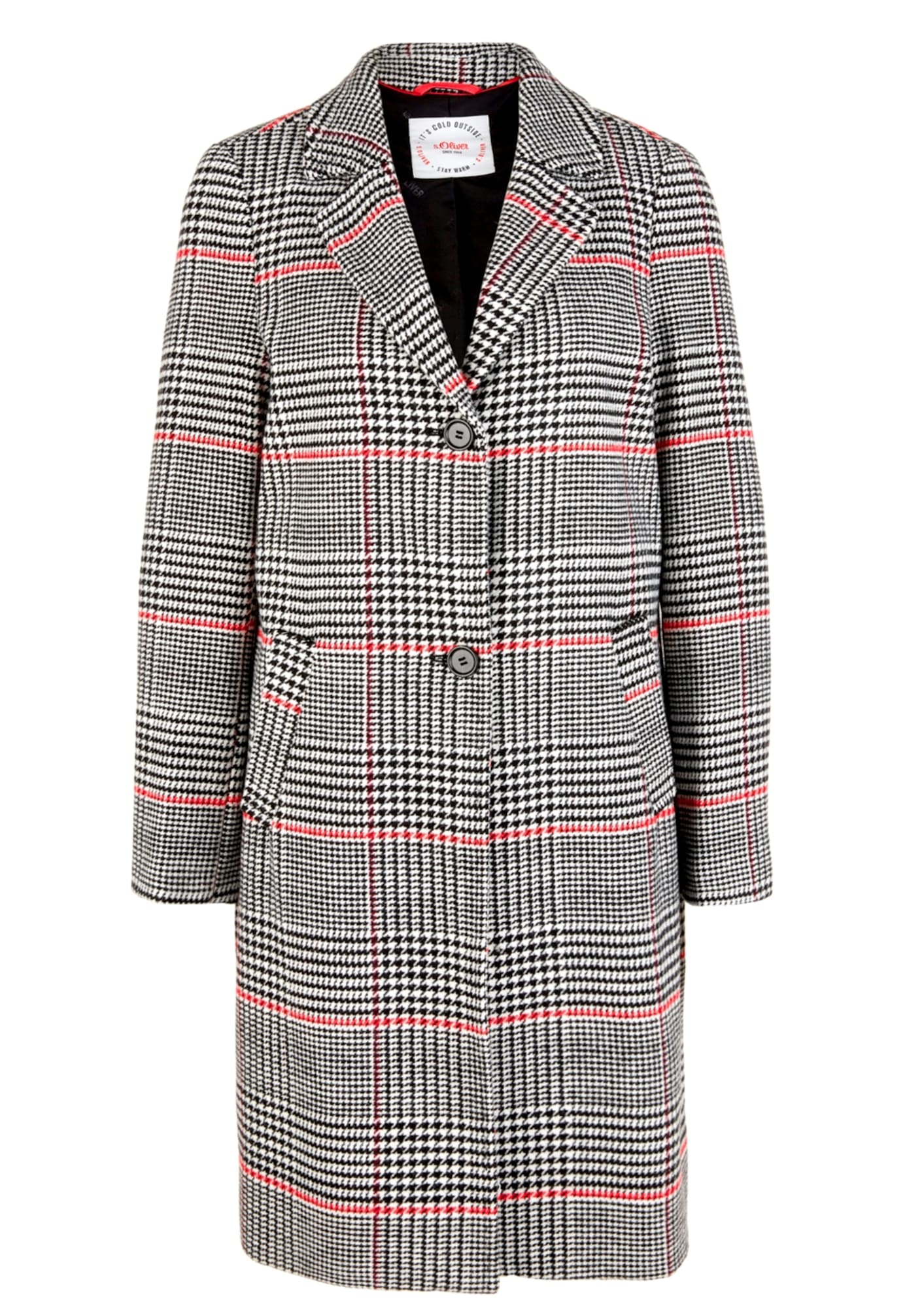 s.Oliver Prechodný kabát  červené / sivá