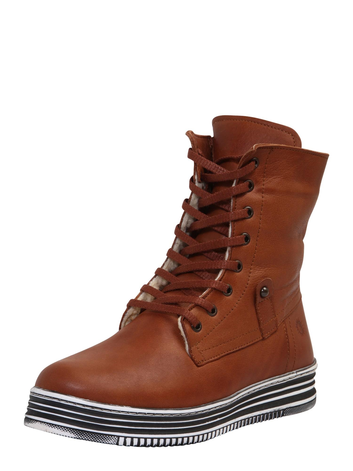 COSMOS COMFORT Suvarstomieji kulkšnis dengiantys batai ruda (konjako)
