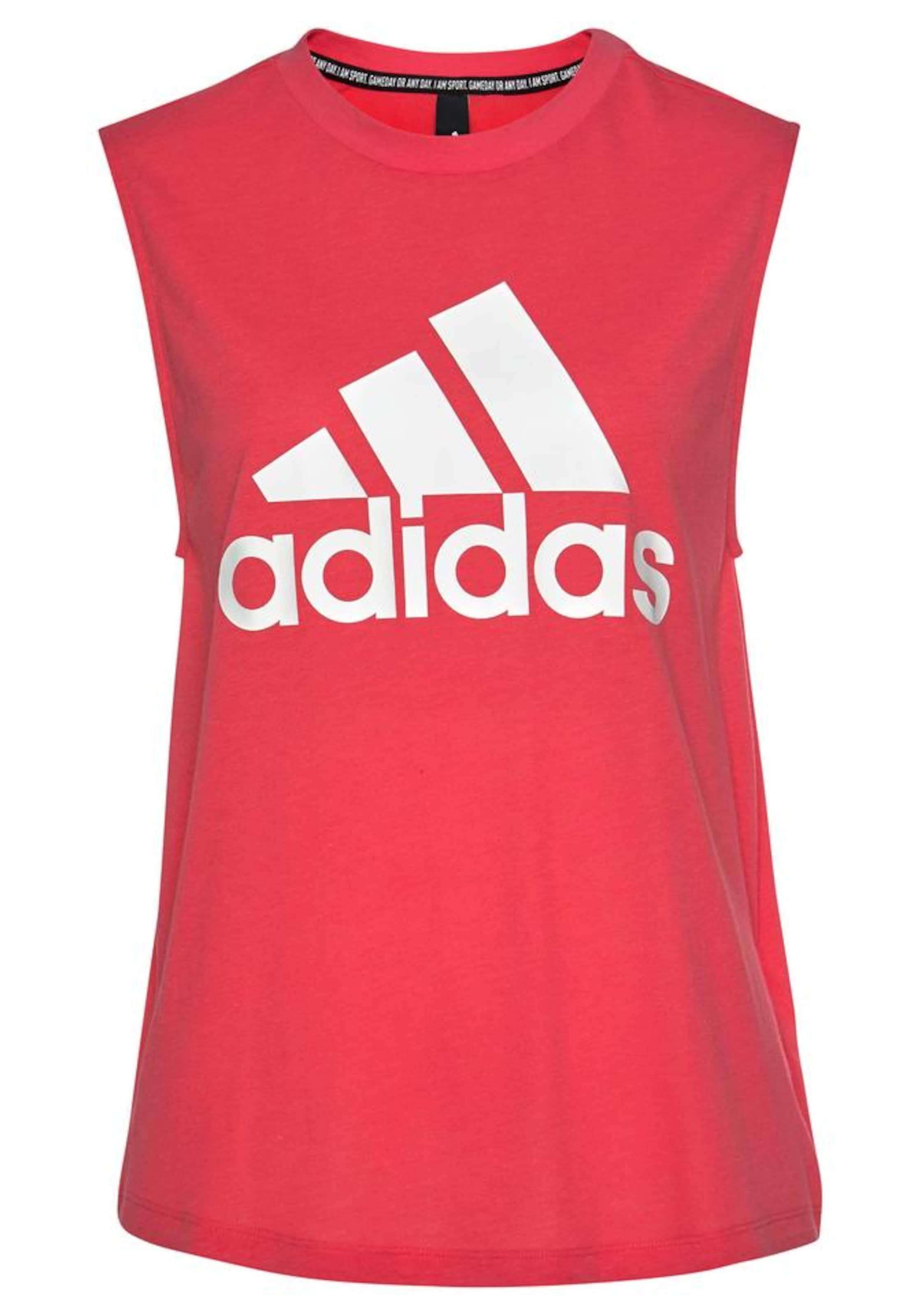 Damen ADIDAS PERFORMANCE Tanktop 'MH Batch Of Sports' pink,  weiß | 04062053112655