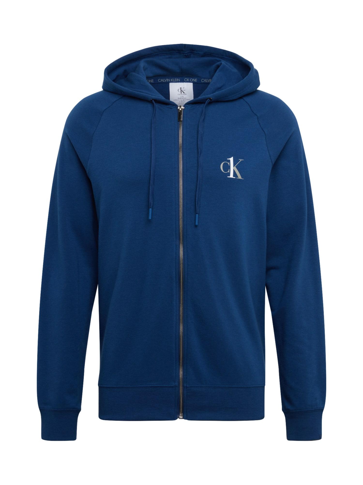Calvin Klein Underwear Mikina s kapucí 'FULL ZIP HOODIE'  modrá