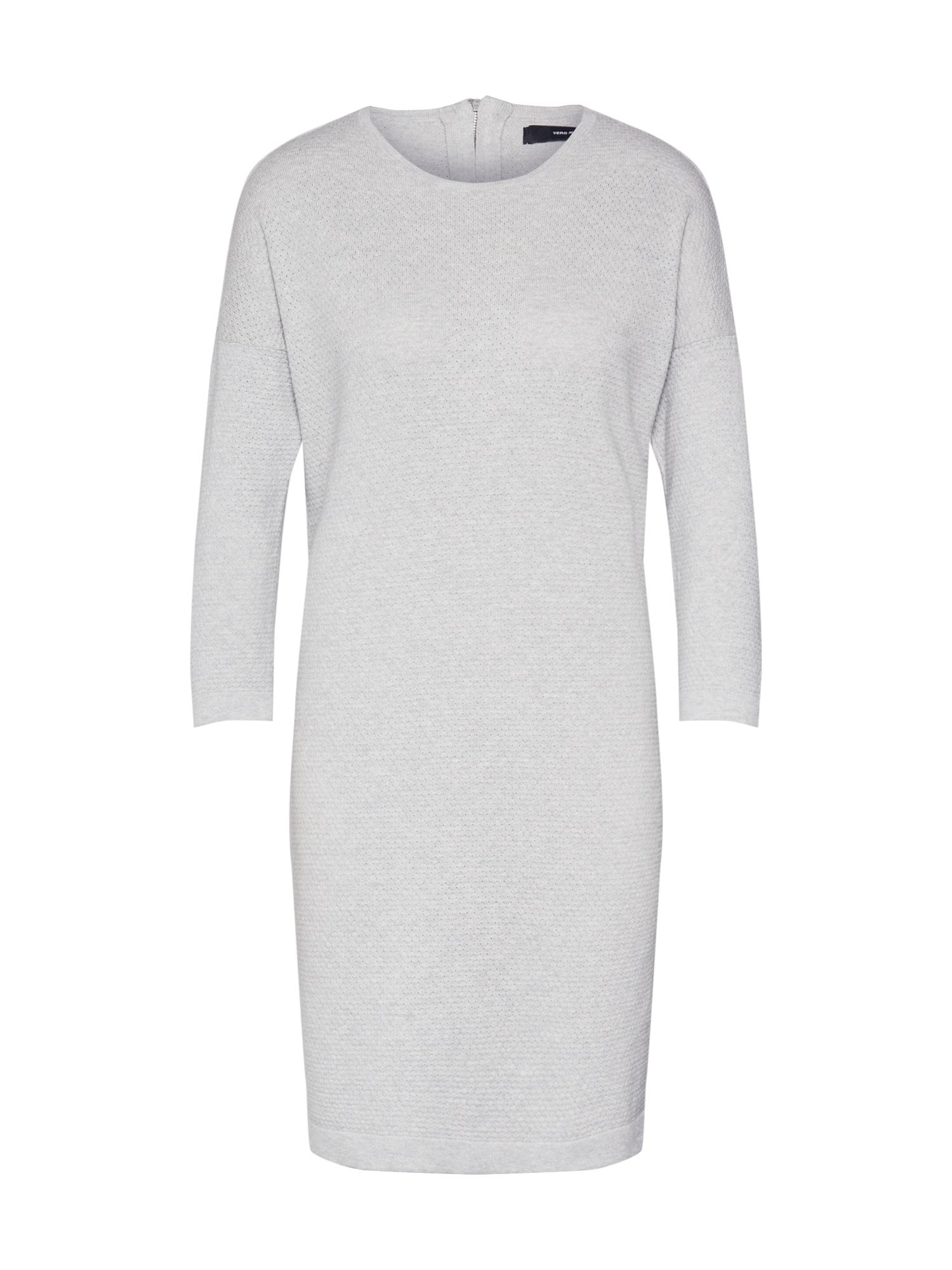 VERO MODA Megzta suknelė 'MINNIECARE' pilka